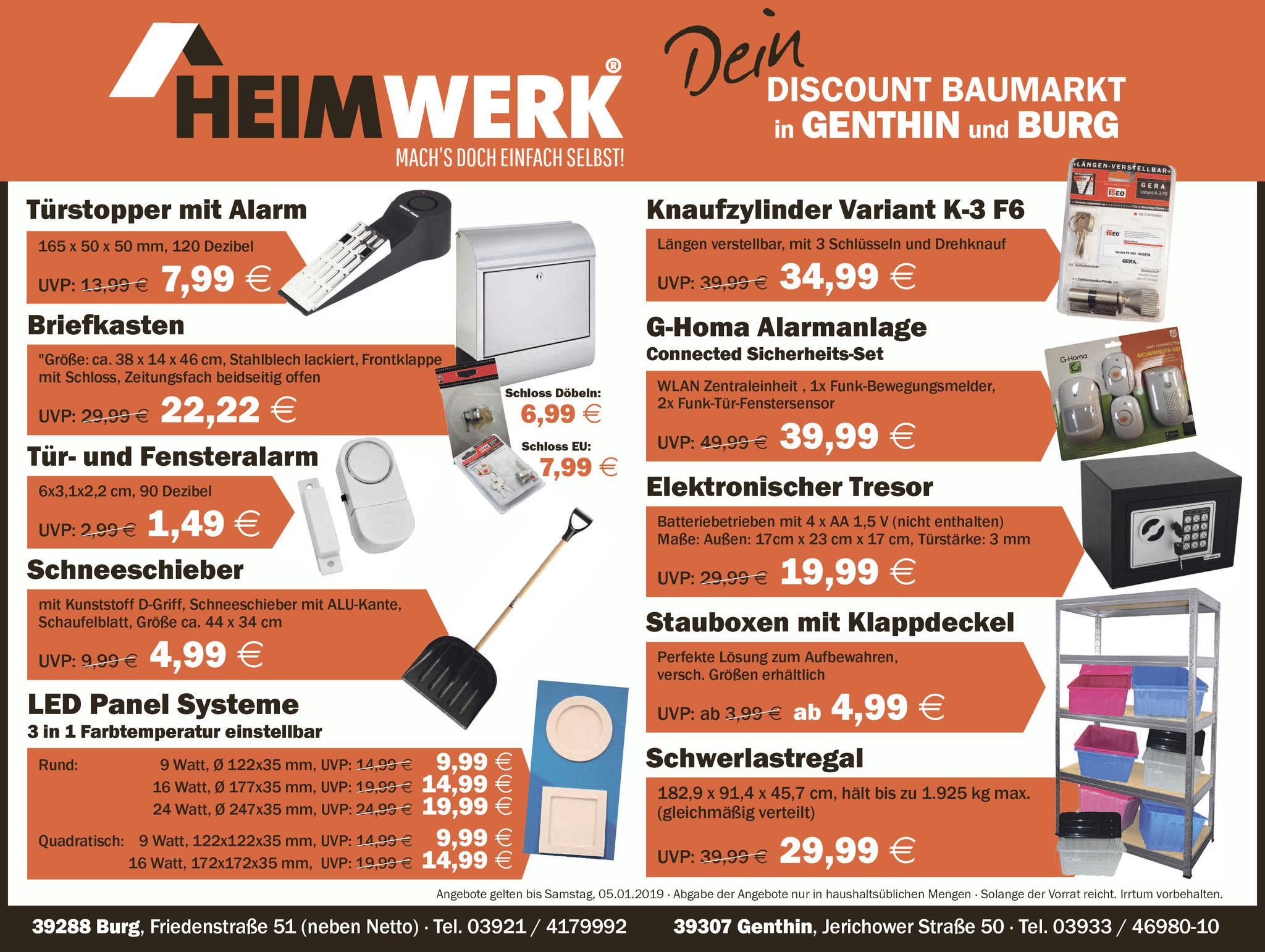 Angebote 06012019 12012019 Heimwerk Discount Baumarkt