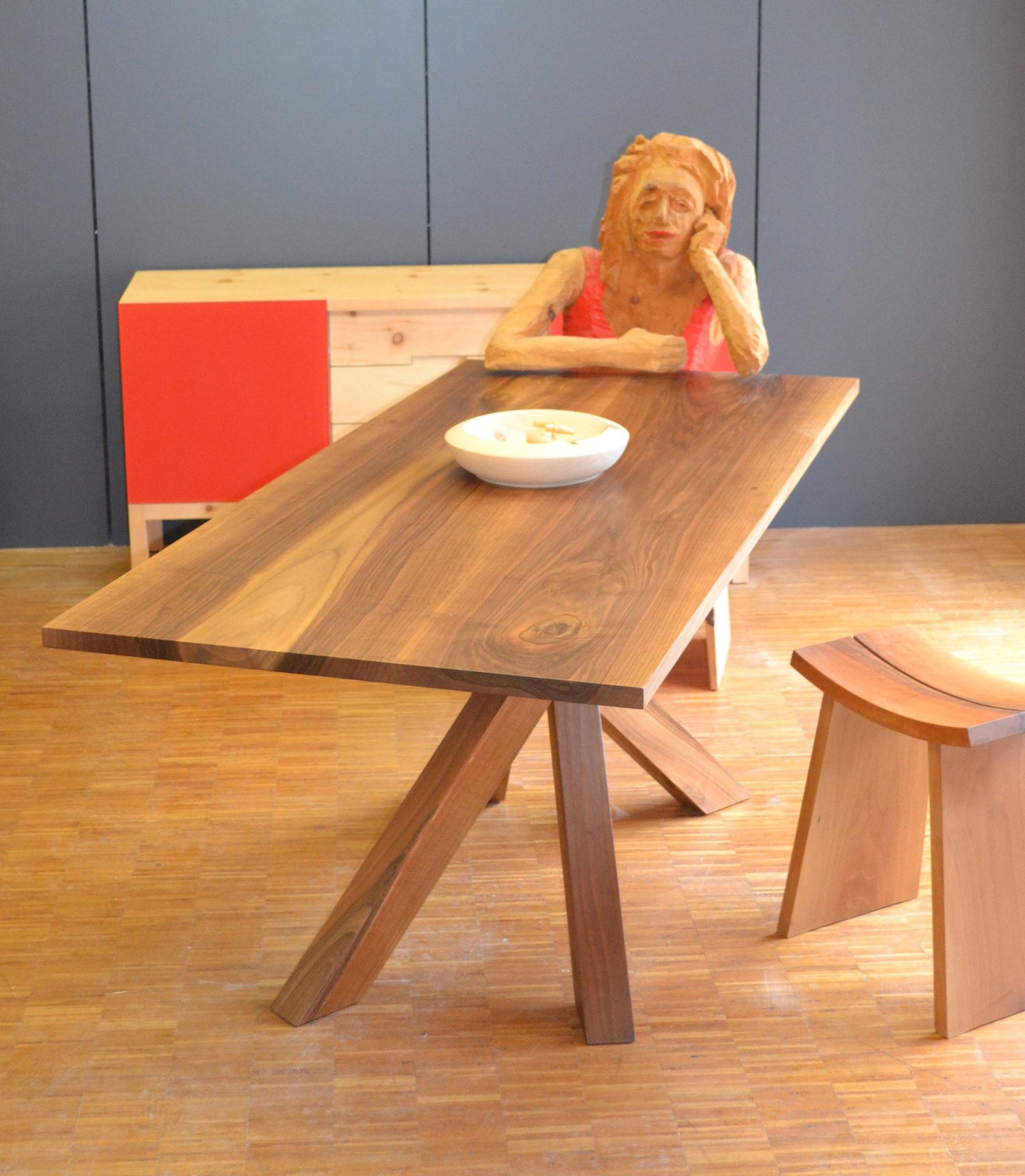 Tisch Twist Nussbaum rechteckig