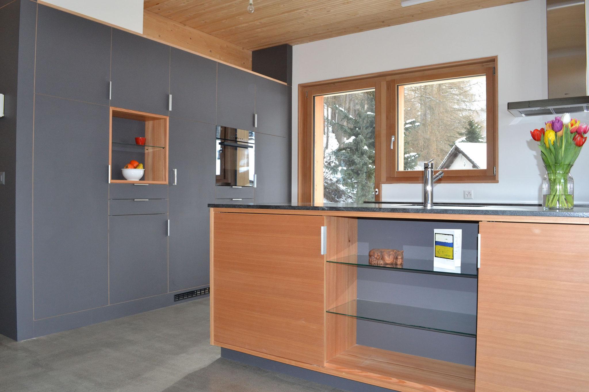 Massivholzküche Lärche und Kelco