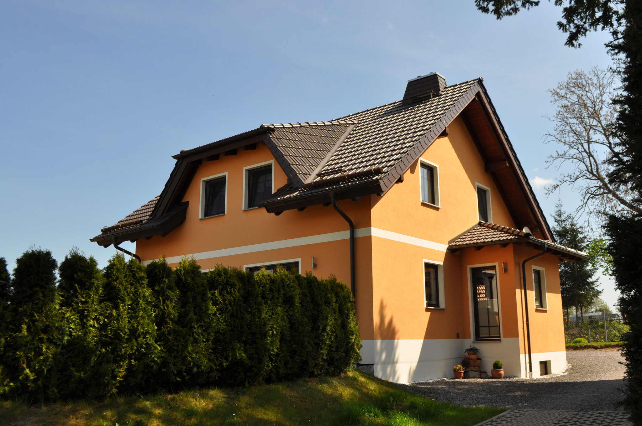 Dachstuhl Neubau Wohnhaus