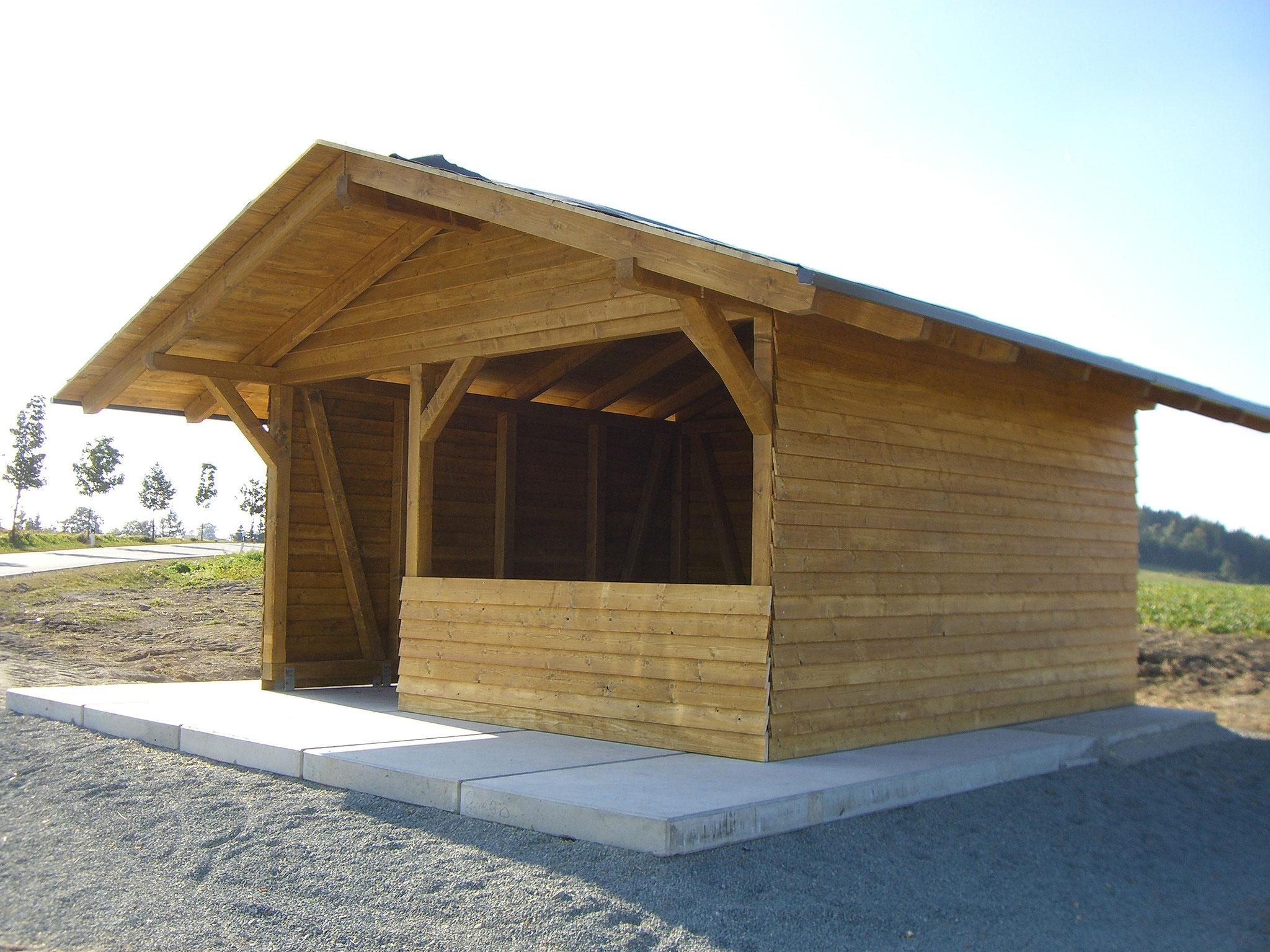 Wanderhütte in Fachwerkkonstruktion