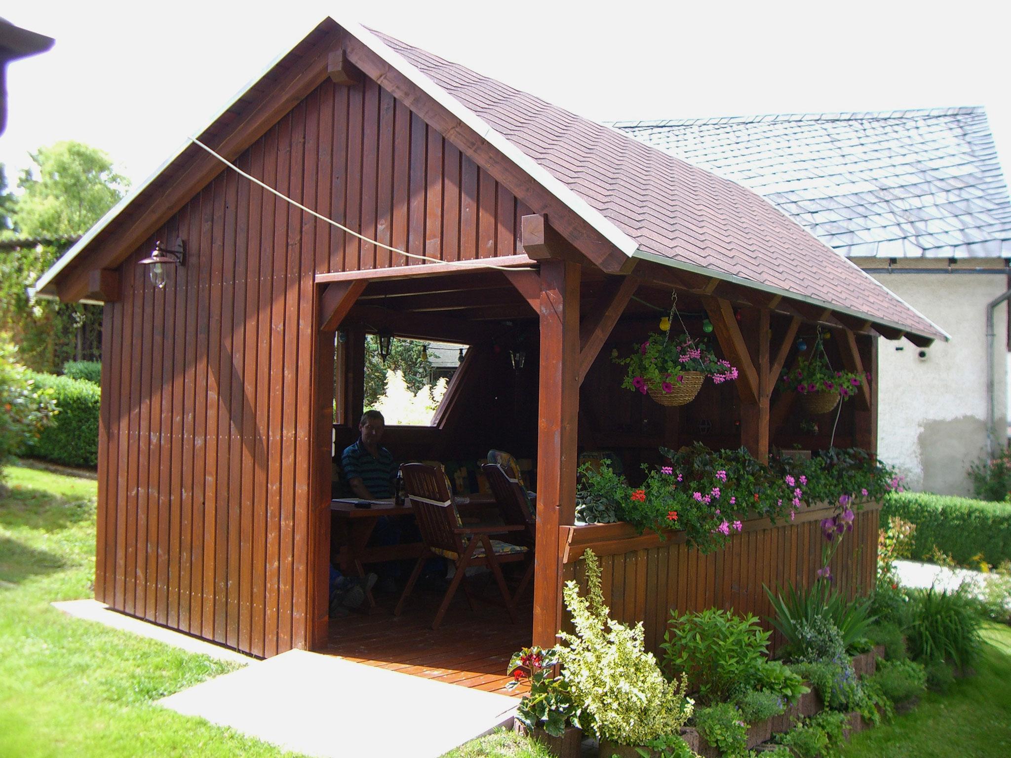 Gartenhaus in Fachwerkbauweise