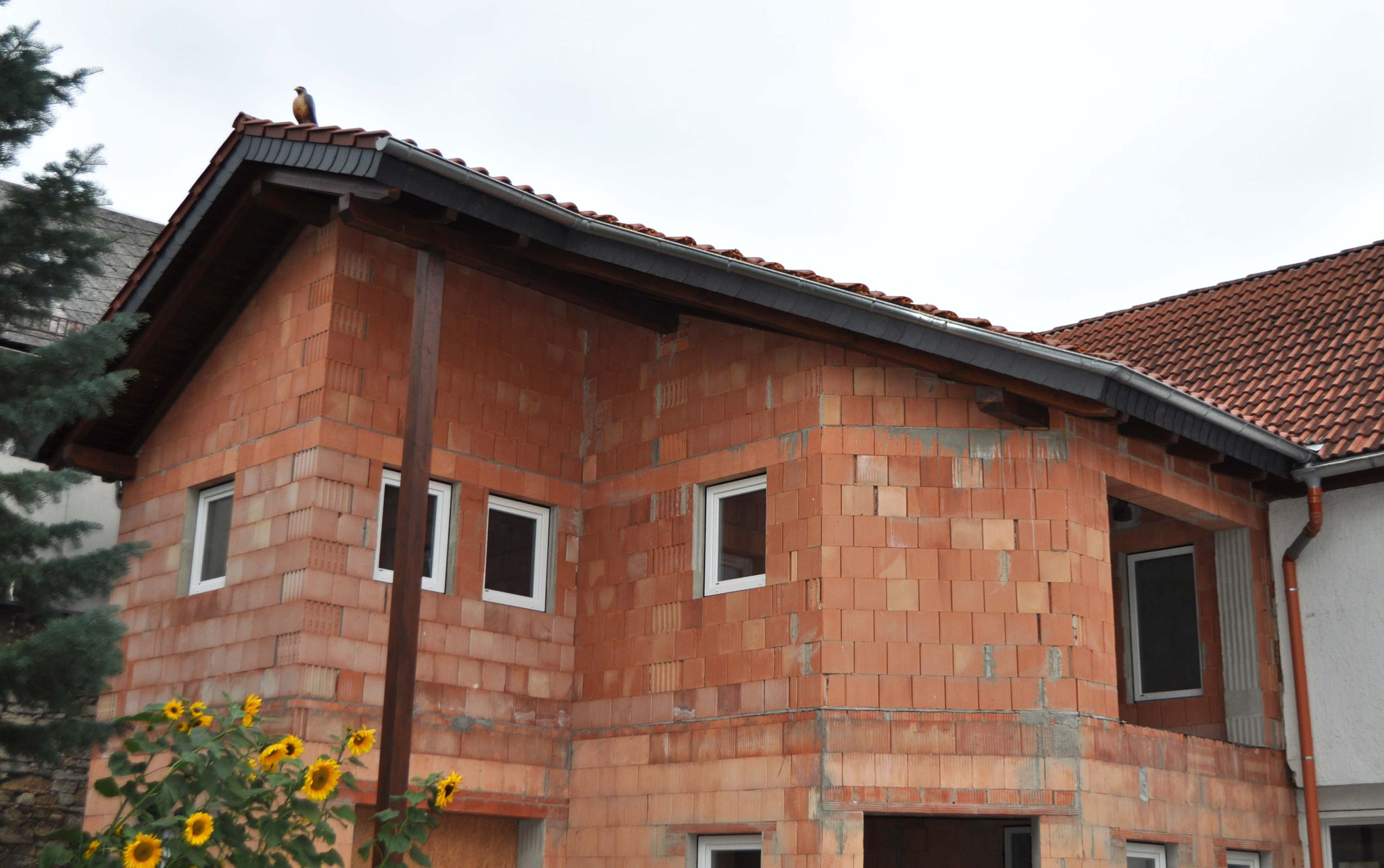 Dachstuhl, sichtbar mit Aufspardämmung
