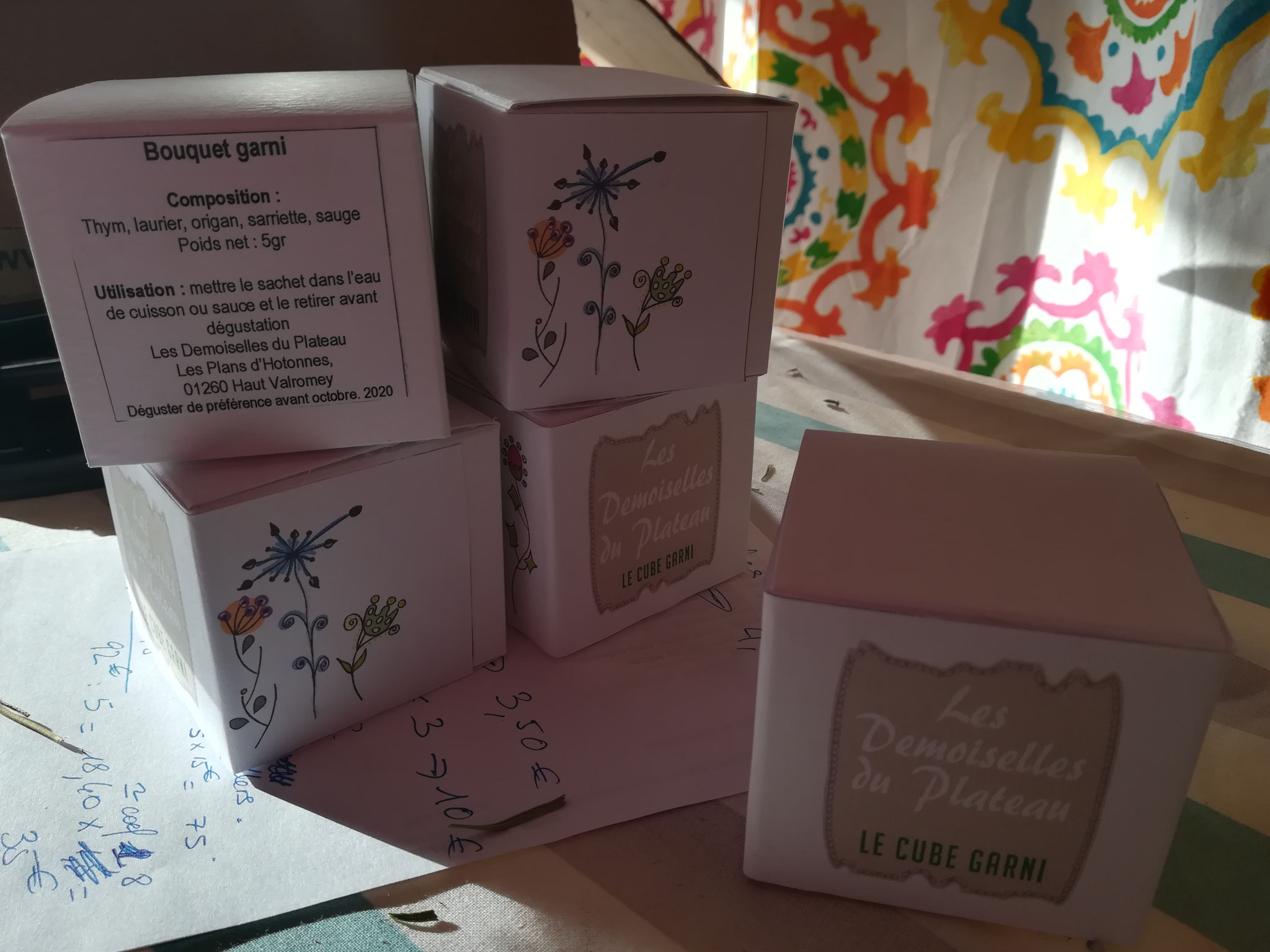 Cube garni (sachet de thé rempli d'un bouquet garni)