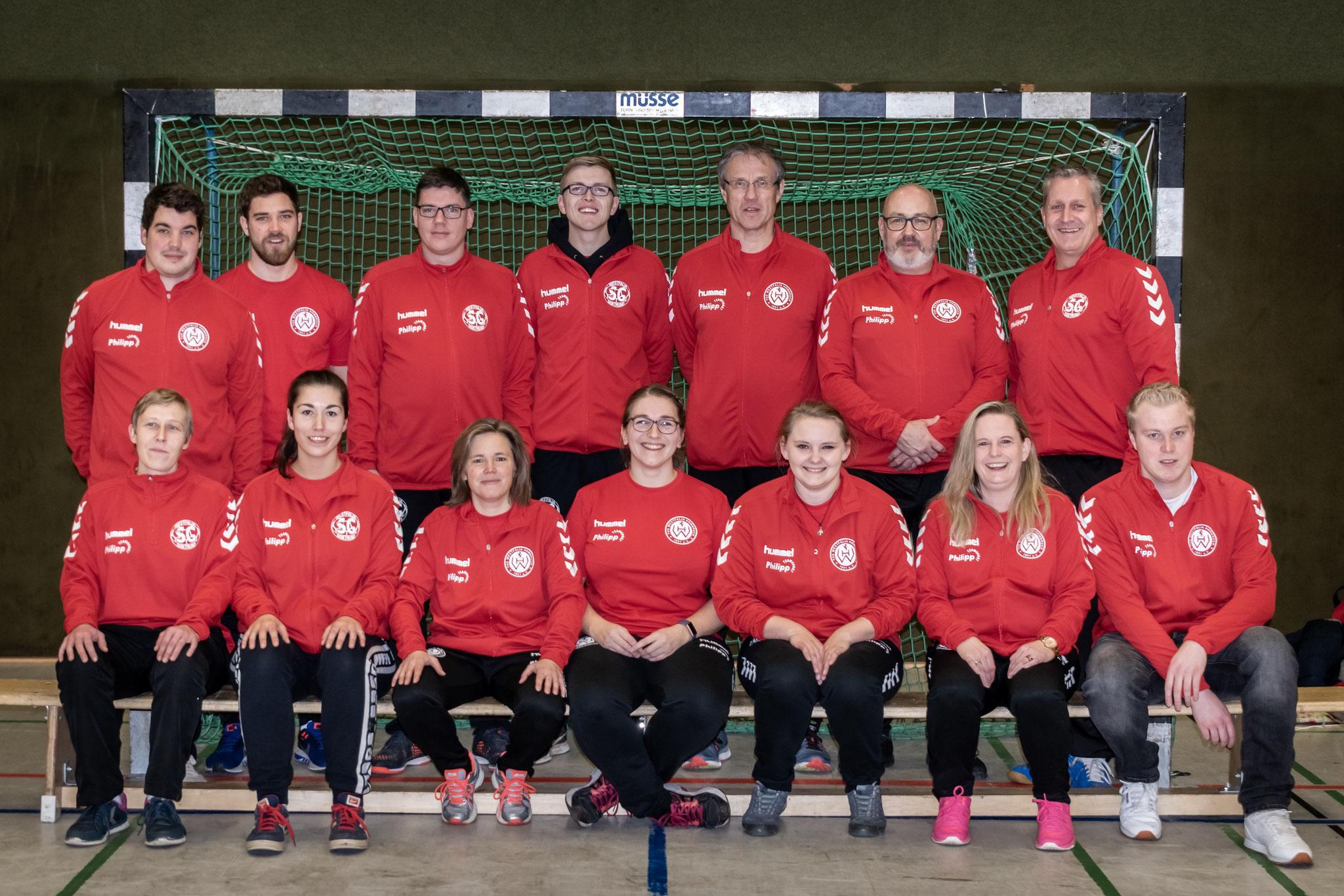 Die Jugendtrainer/innen 2018/19 von TuS Westf. Hombruch und der JSG Westf. Dortmund