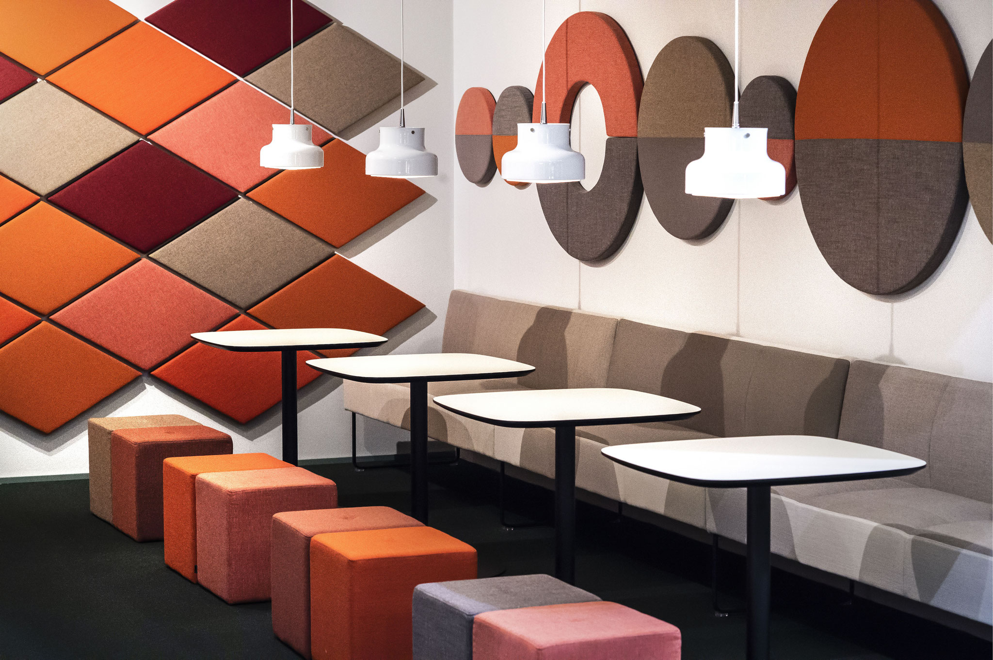 EFG Kite acoustic tiles in new shapes