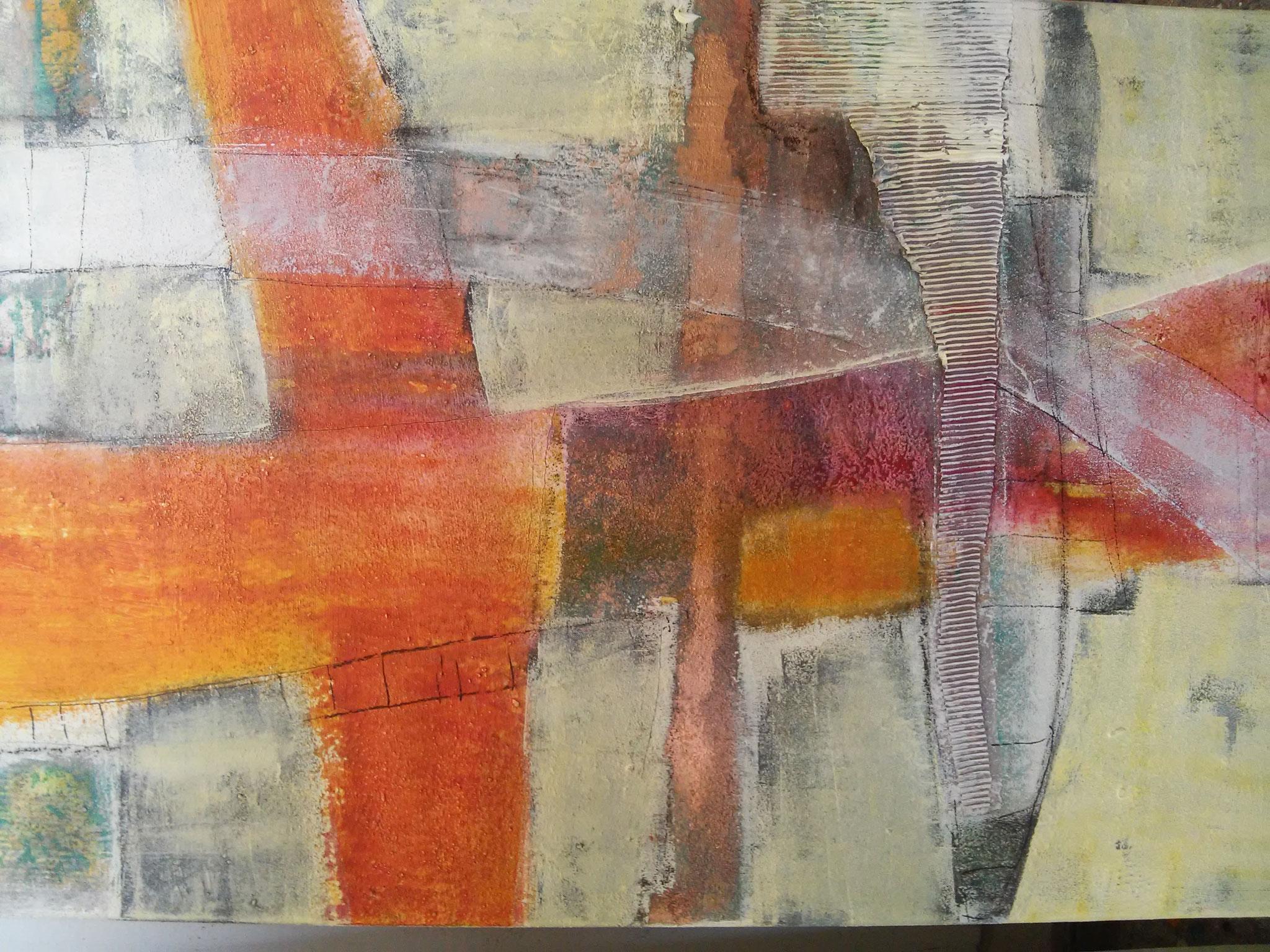 Collage und Mischtechnik / 60/90 cm  - 690 €