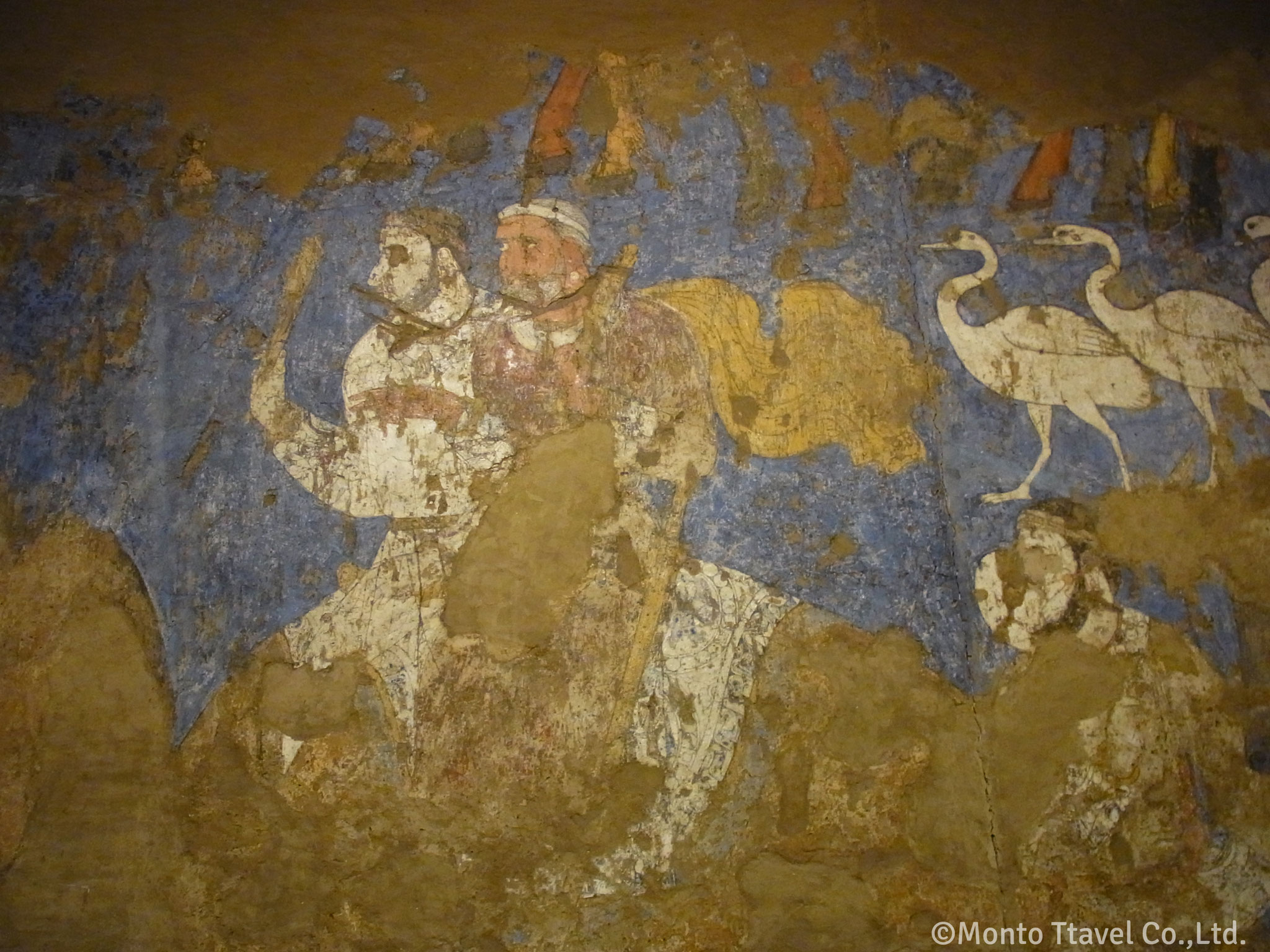 アフラシャブ博物館  ソグド人の壁画(サマルカンド))