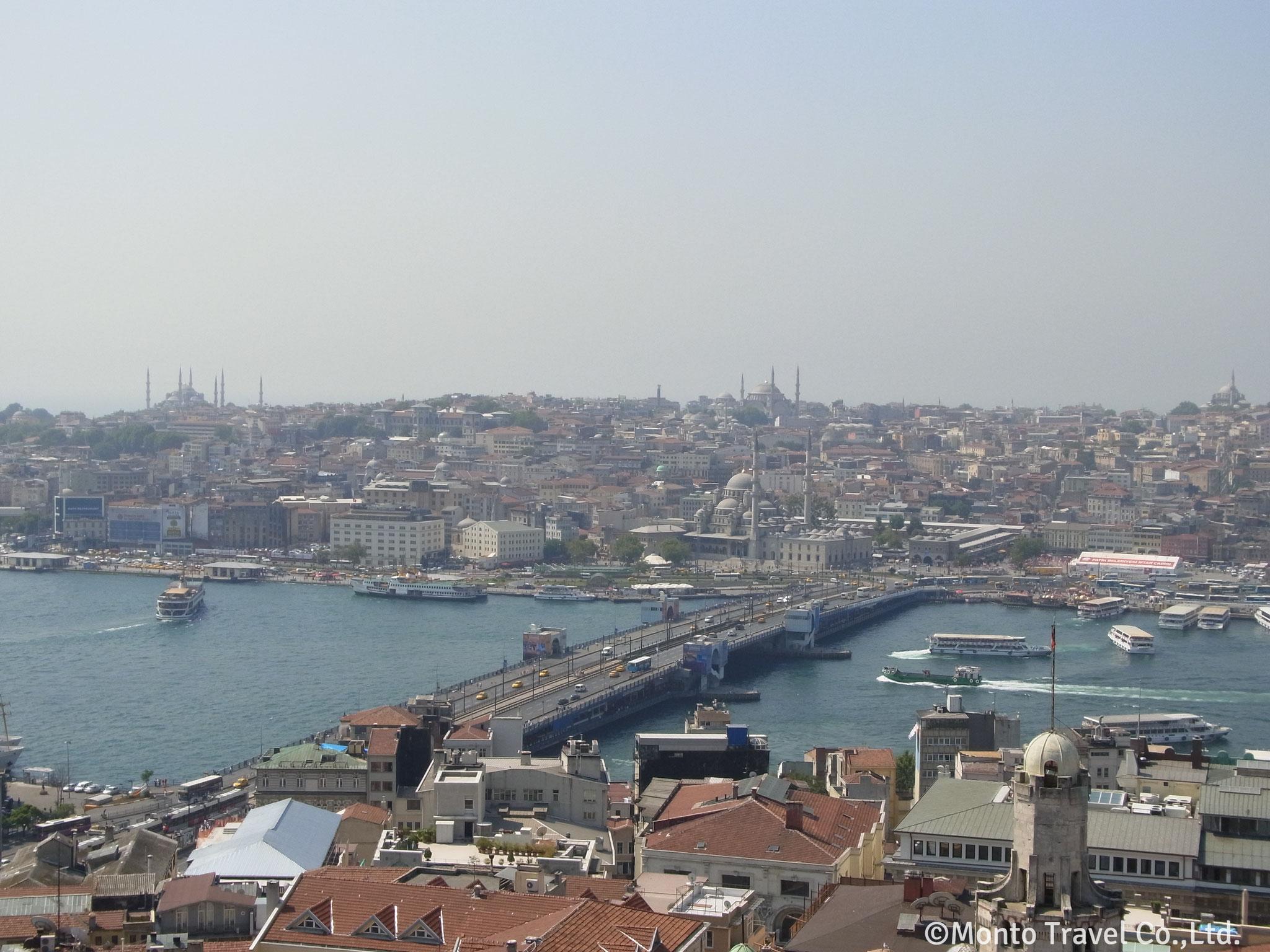 ガラタ塔から見る旧市街(イスタンブール)