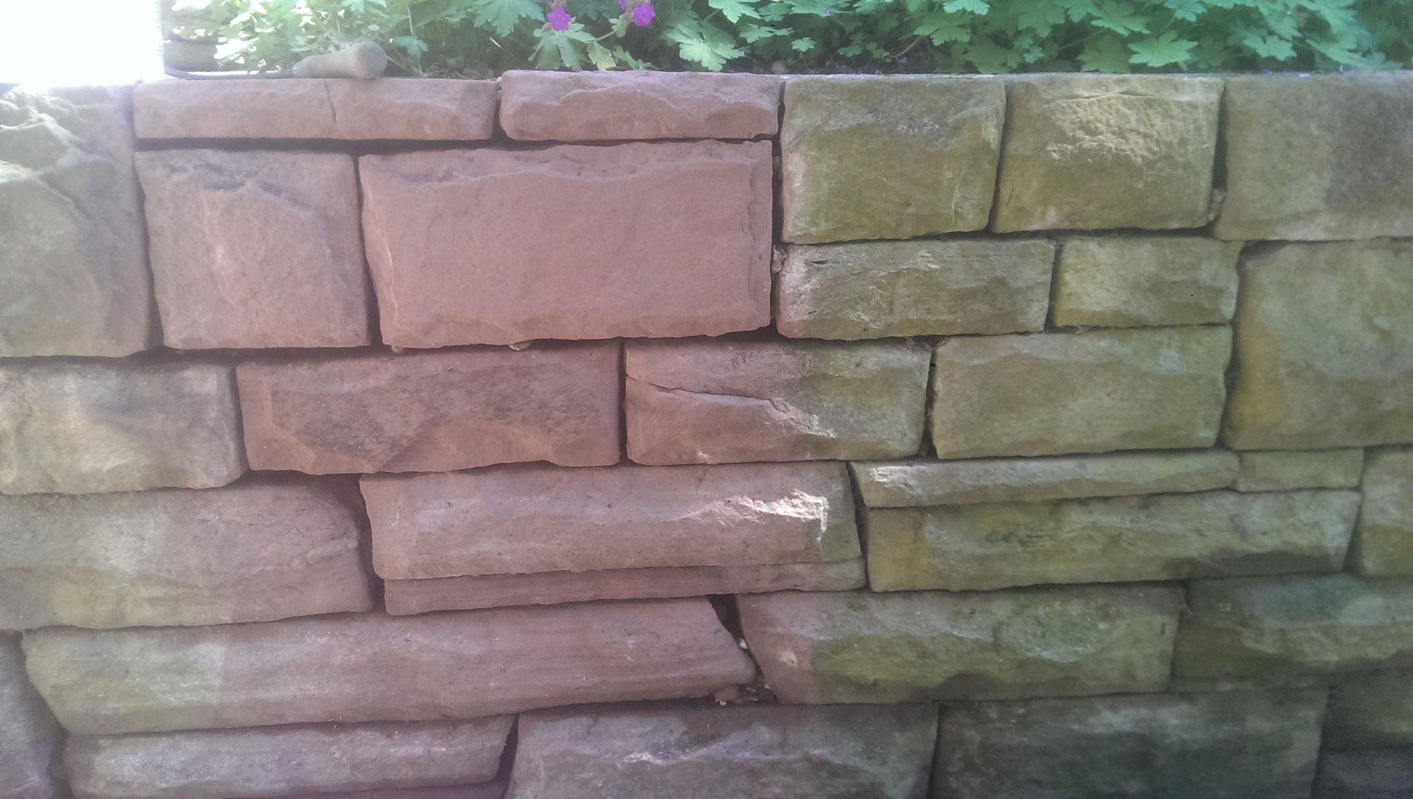 Mauer gereinigt