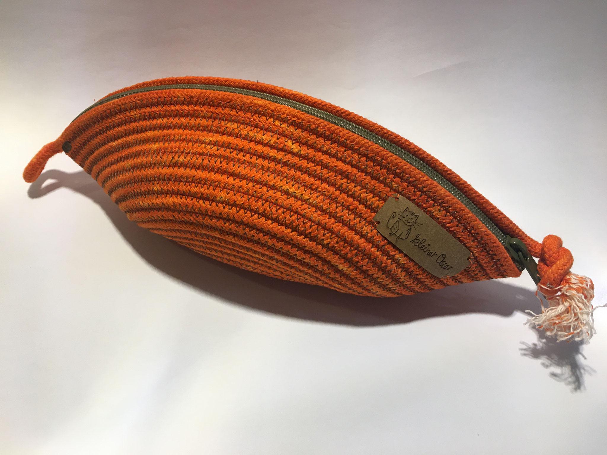 Kosmetiktasche pequeño Orange mit Khaki