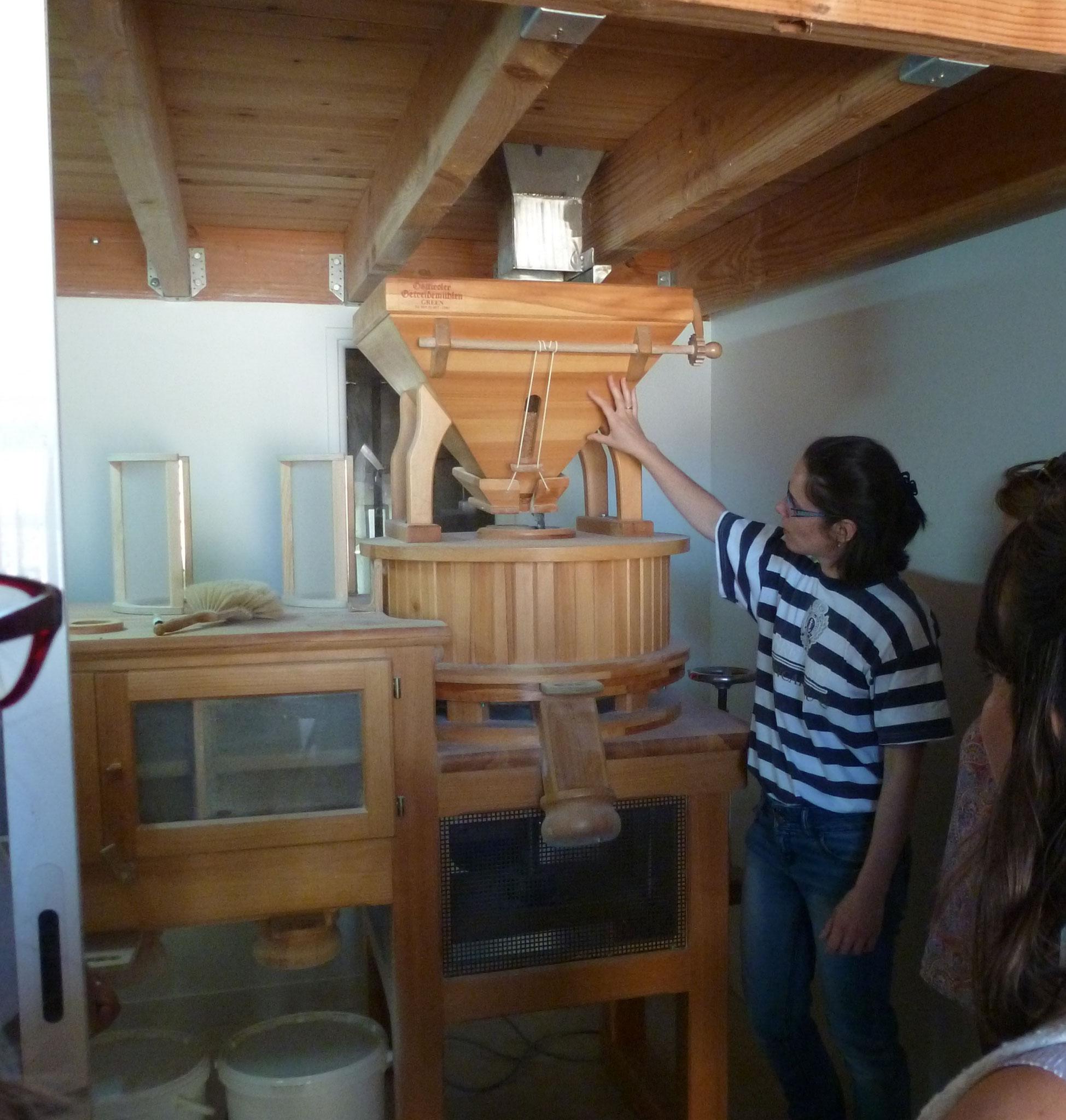Découverte du moulin à farine