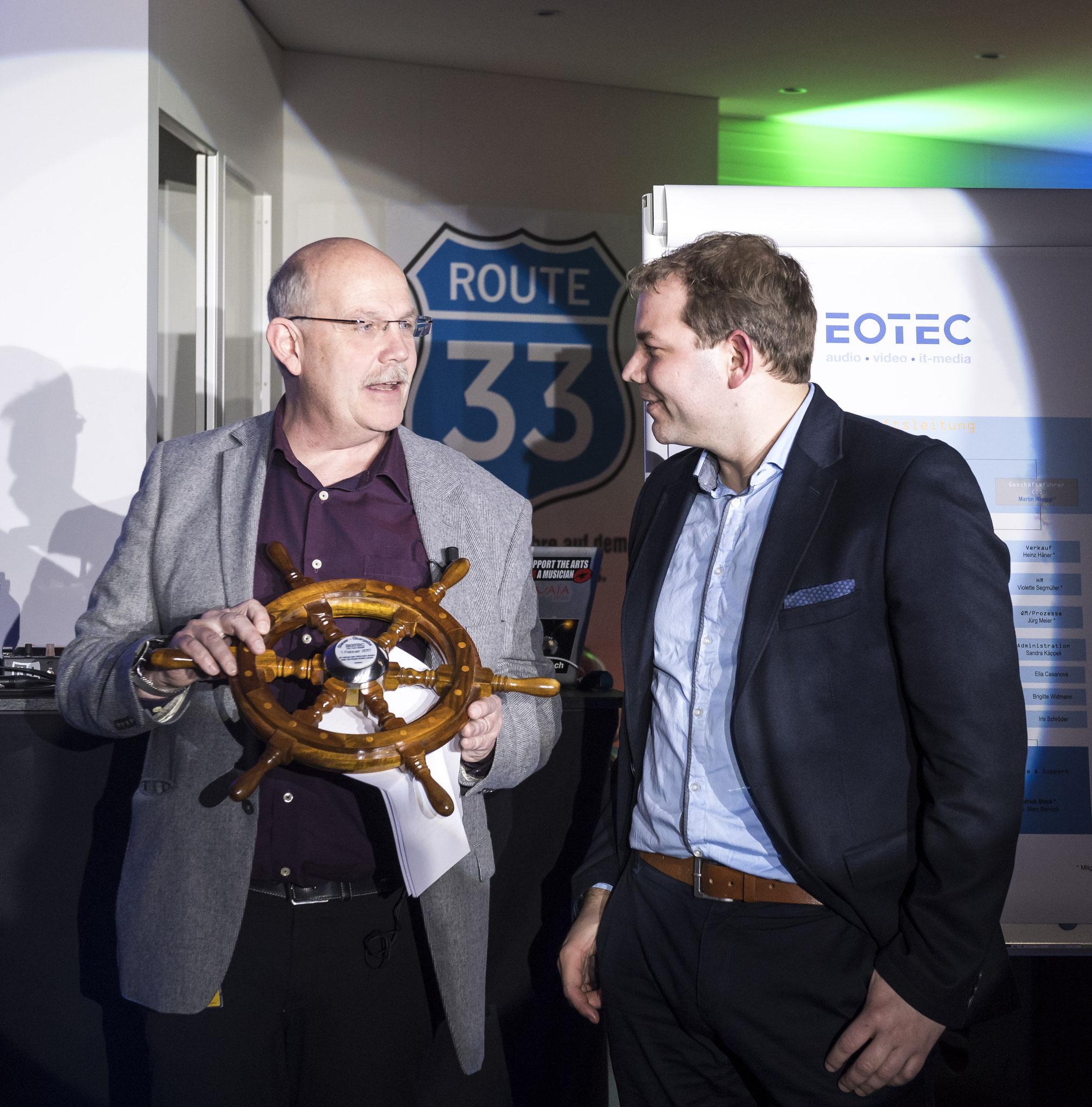Martin Hänggi und Stefan Schröder 33 Jahre Eotec AG