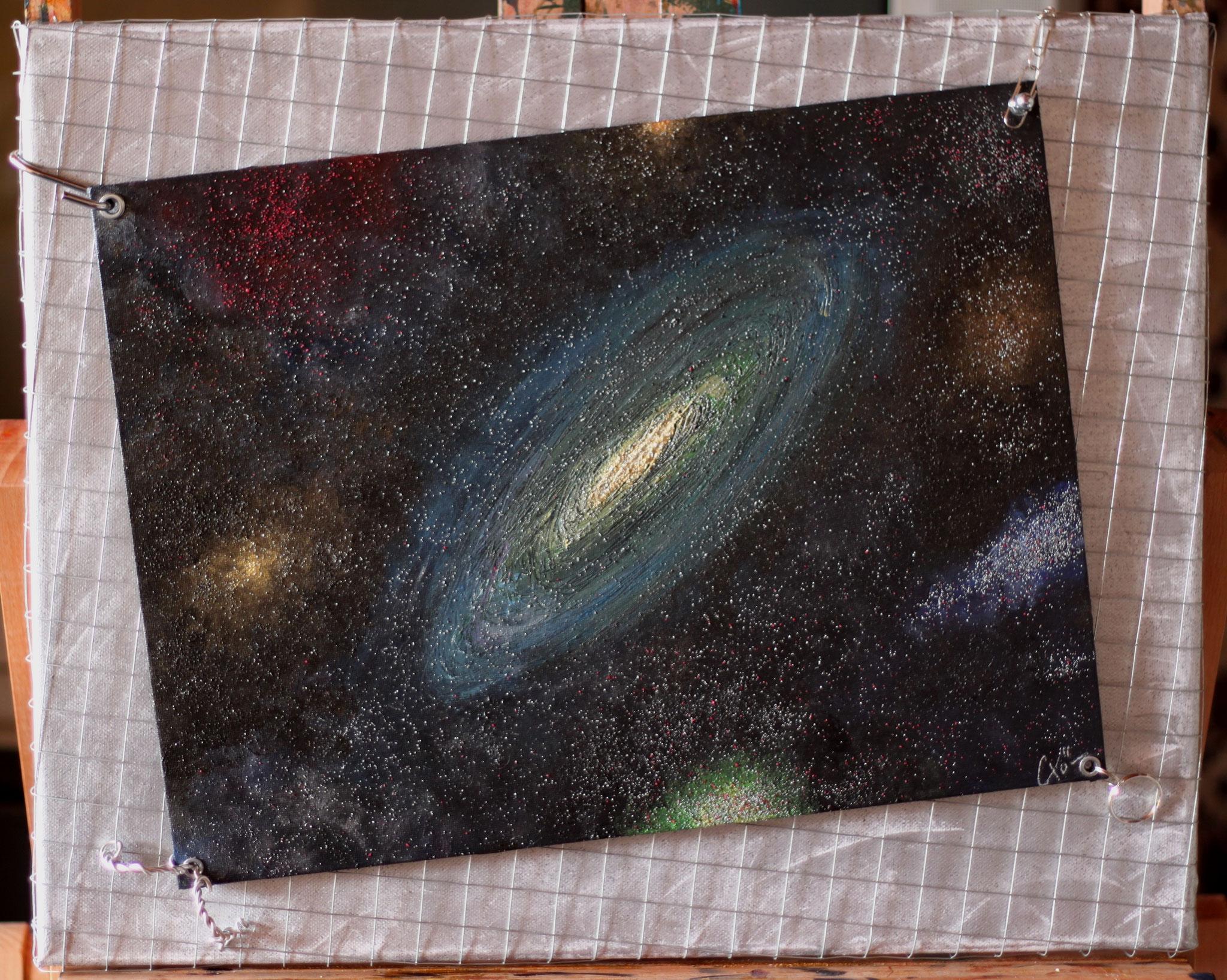 Précarité cosmique - 40 x 50 cm