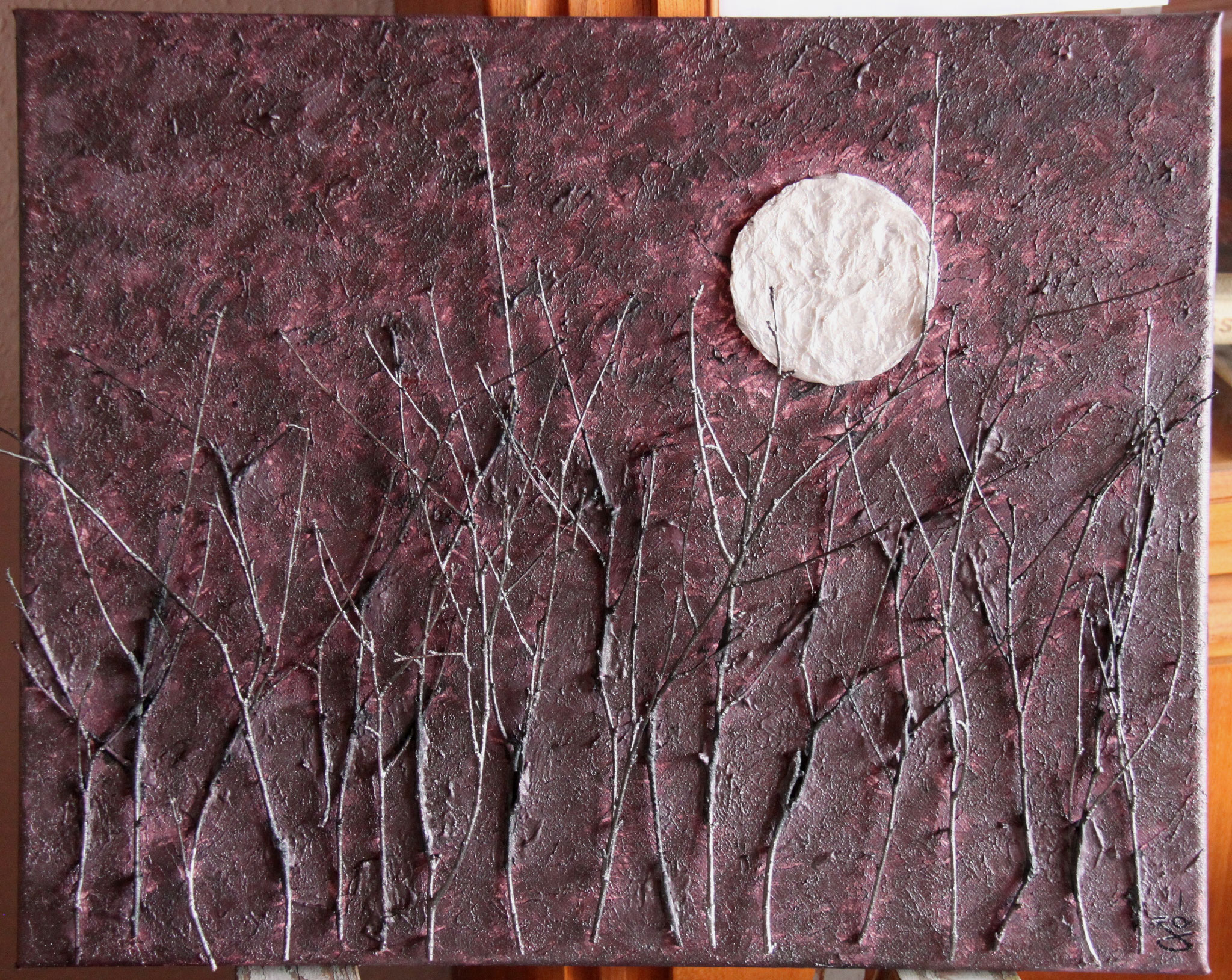 Nuit de pleine lune - 40 x 50 cm