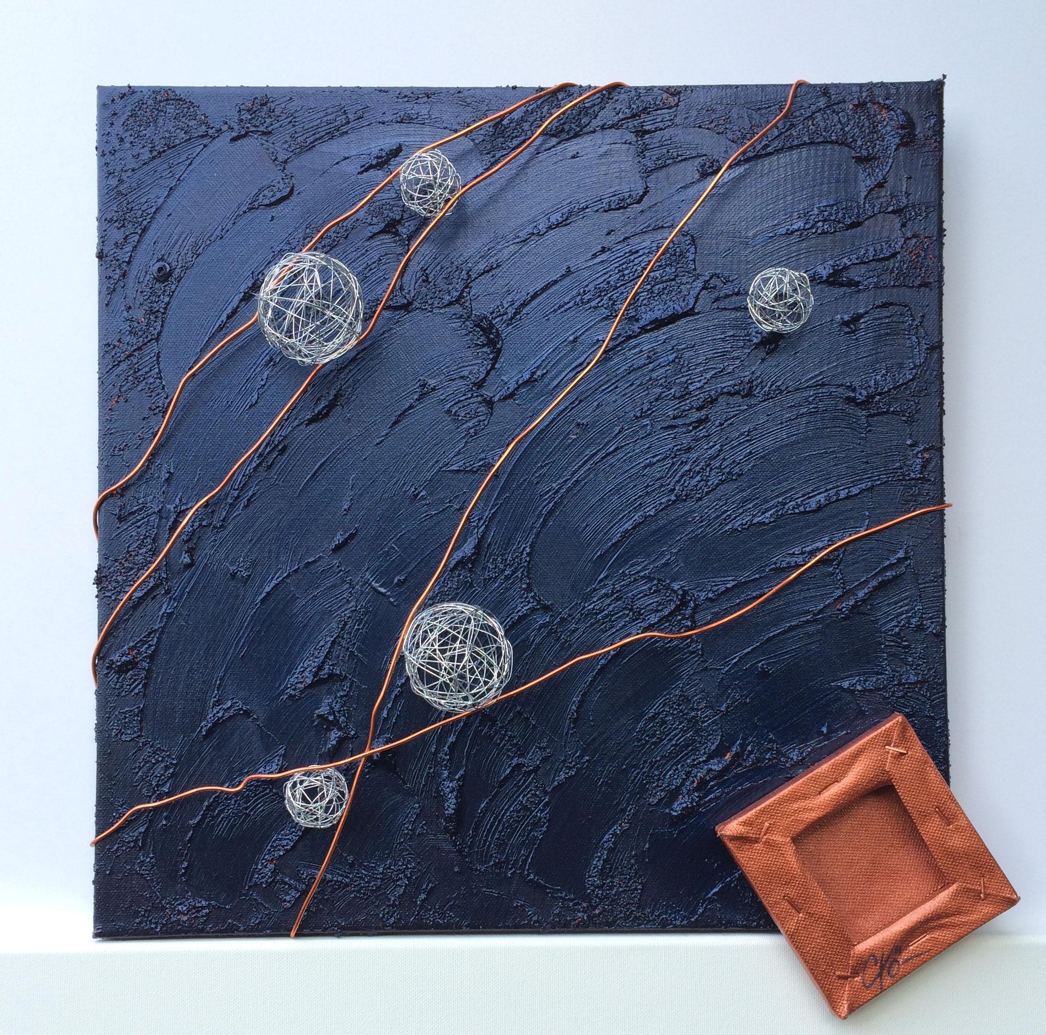 Les météorites - 40 x 40 cm