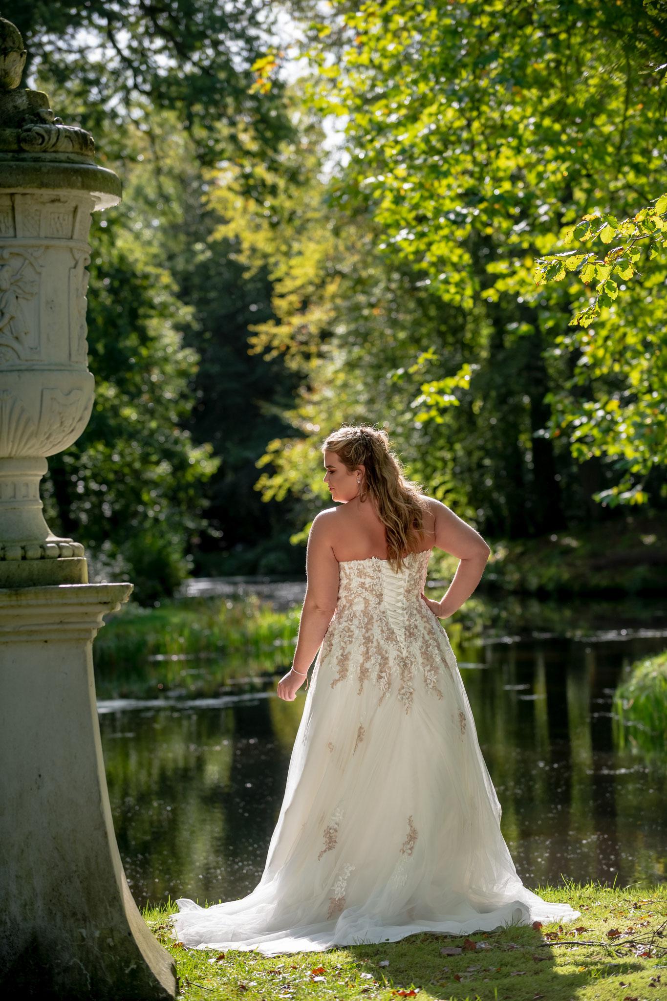 Brautkleid München Spitze Schnürung myLovely Farbe Prinzessin Tüll Corsage Schleppe A Linie