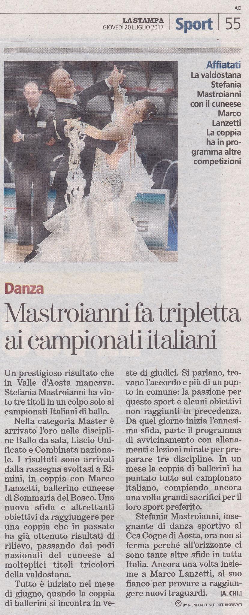 Campionato Italiano classe master 2017 - La Stampa