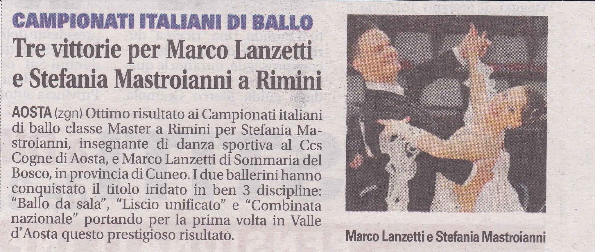 Campionato Italiano classe master 2017 - La Vallée