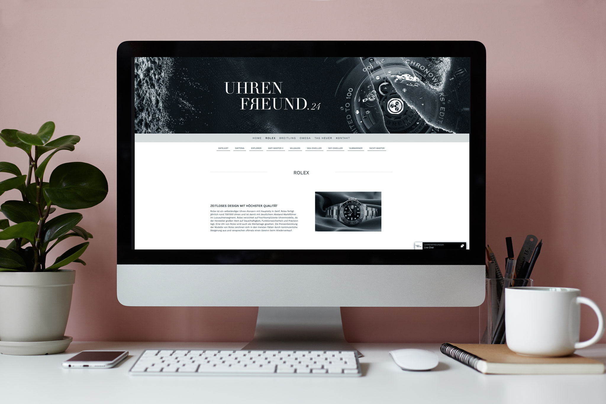 Neues Ci für den Luxusuhren Onlineshop uhrenfreund24