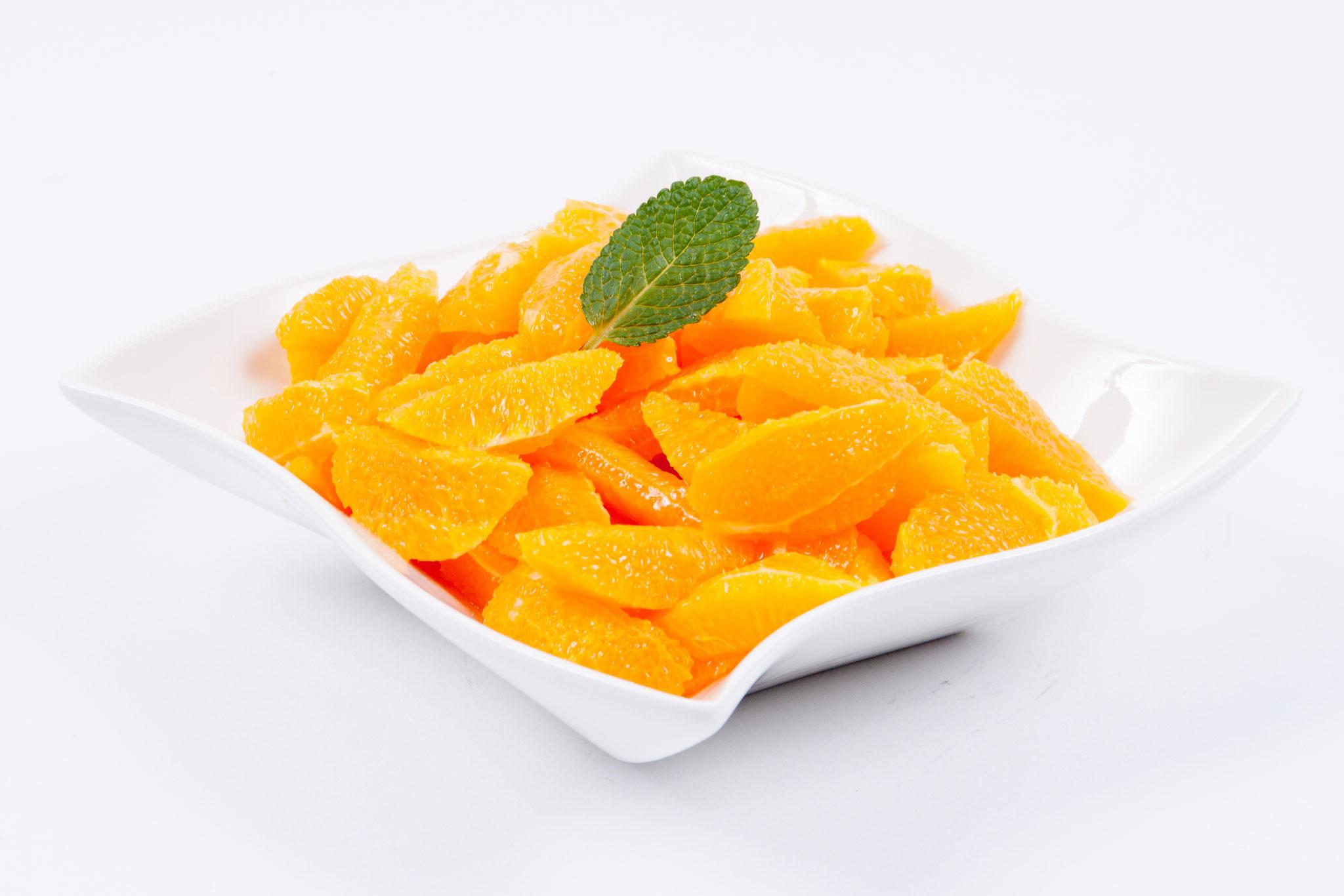 Orange - geschnitten