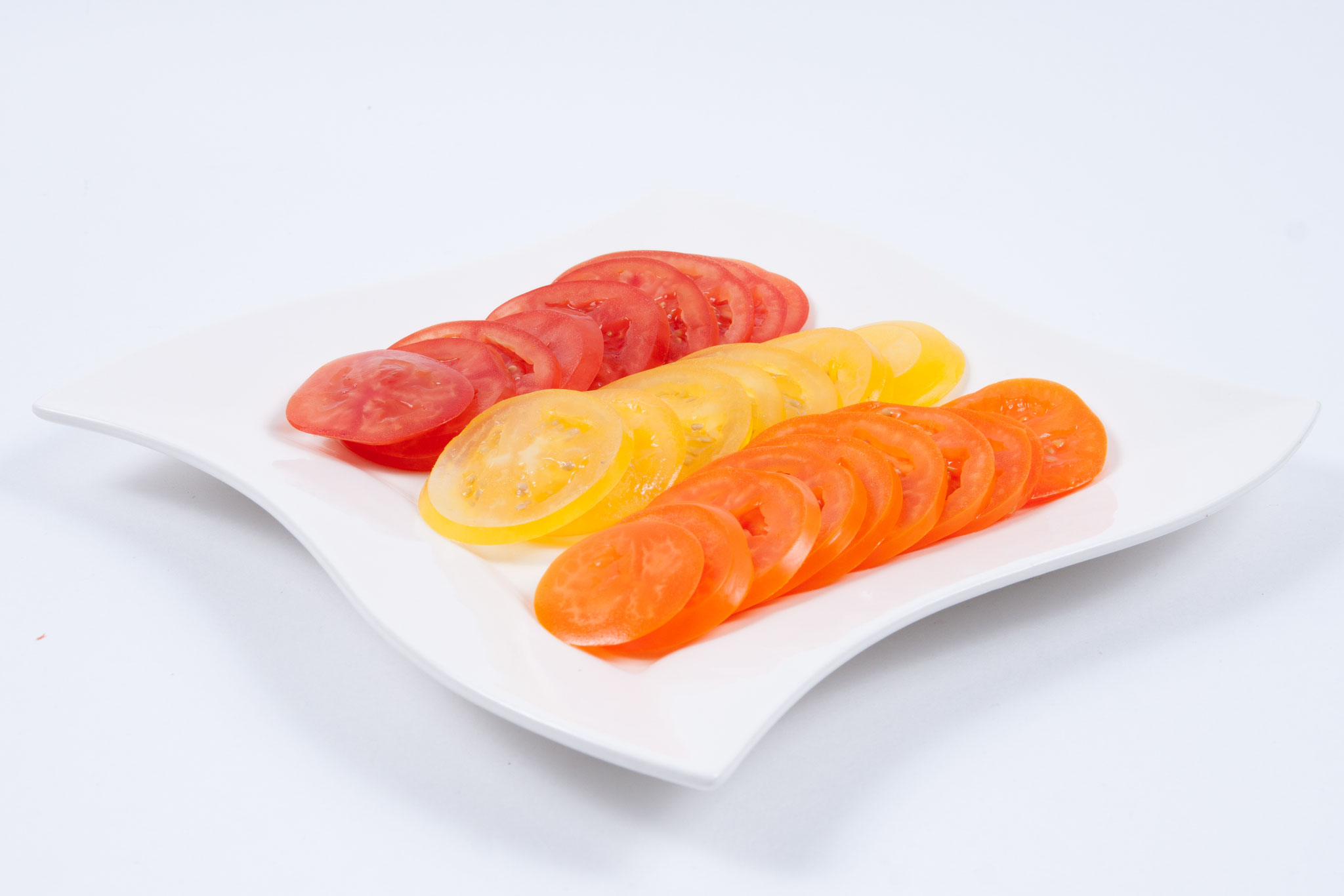 Tomate -rot-gelb-orange 5 mm - Scheibe