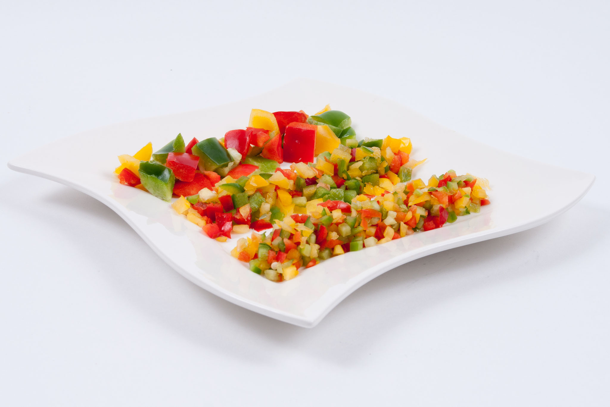 Paprika gemischt 2-3-5 mm - Würfel