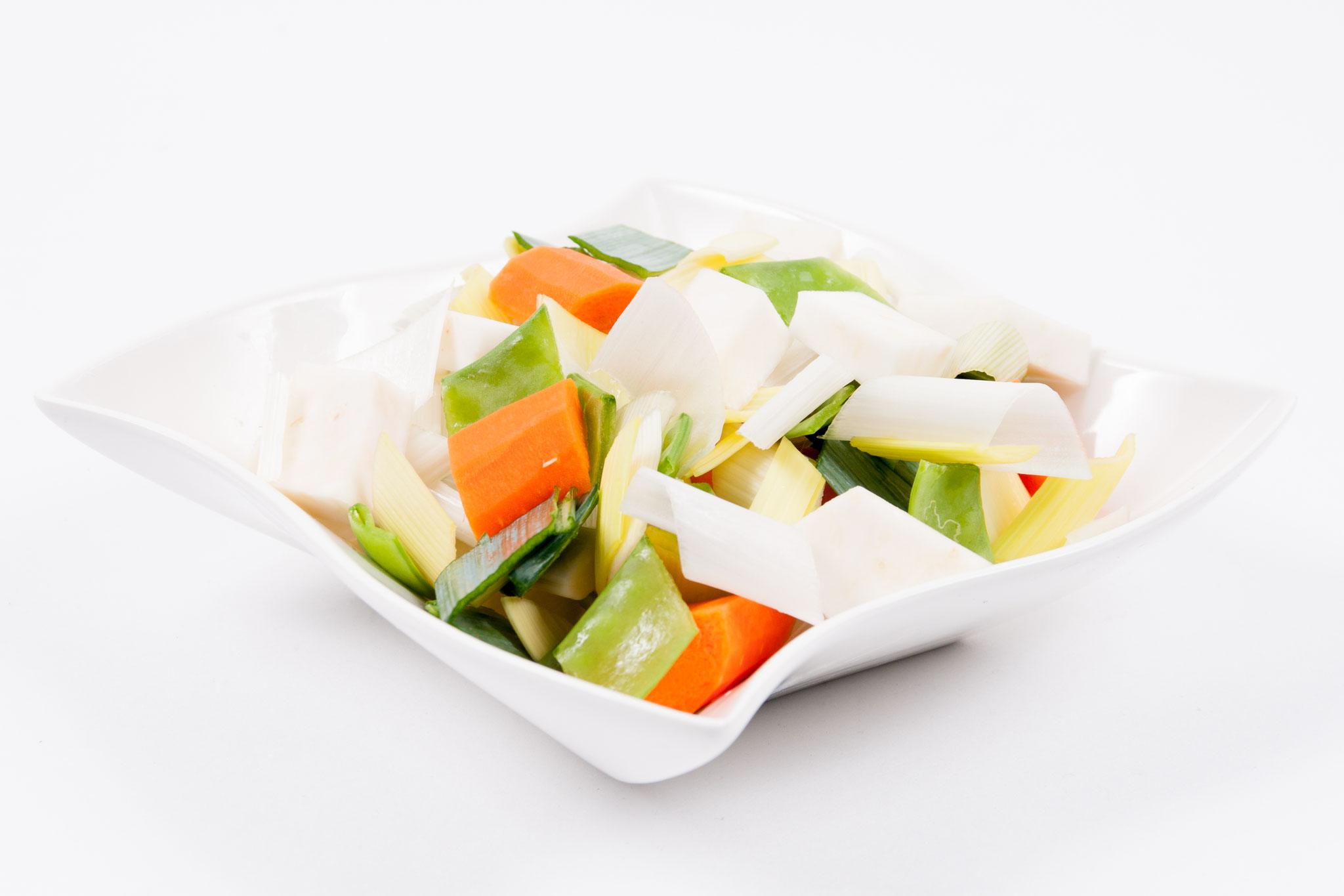 Lauch-Sellerie-Karotten-Zuckerschote - Raute