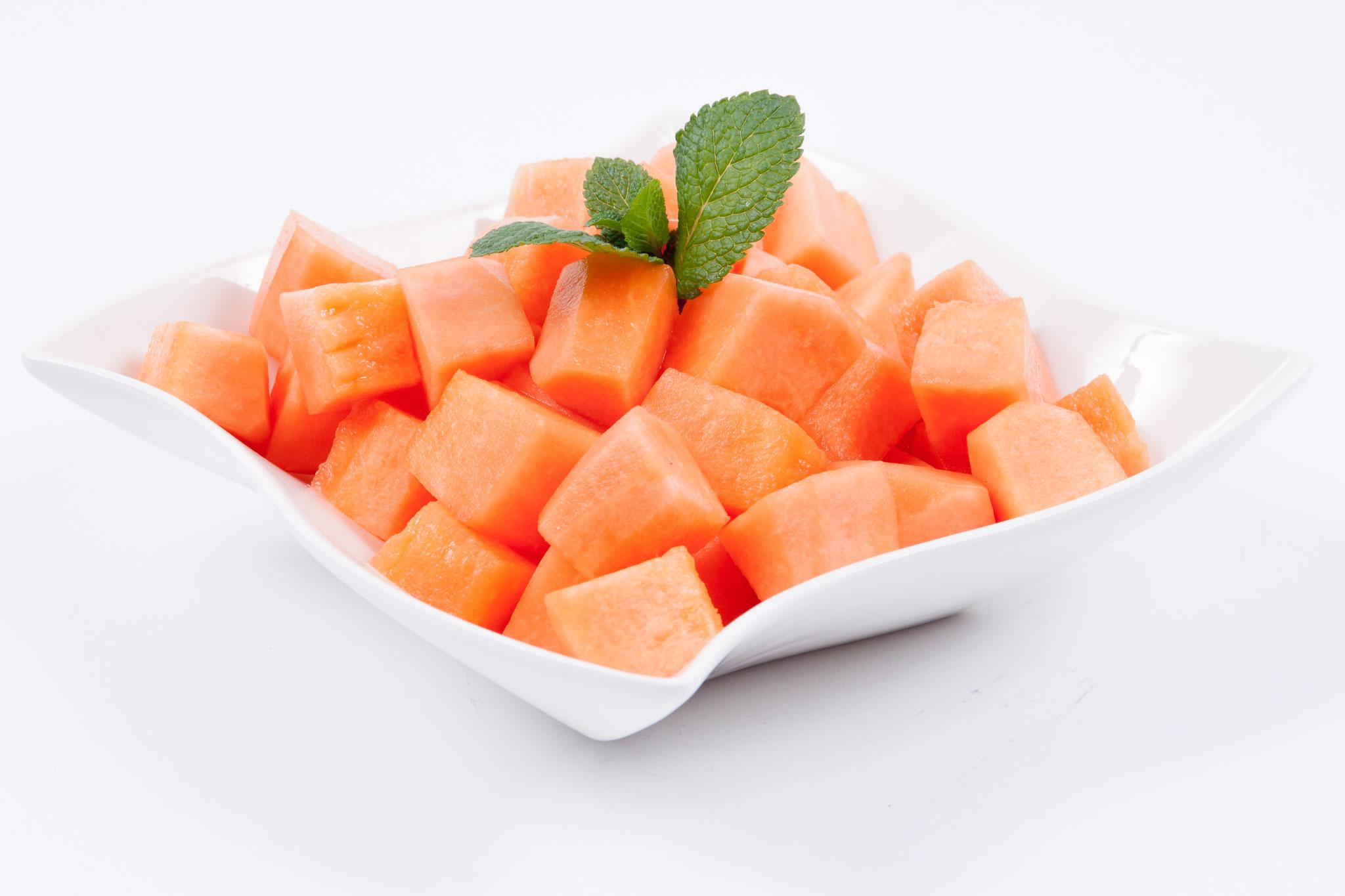 Cantaloupe Melone - geschnitten