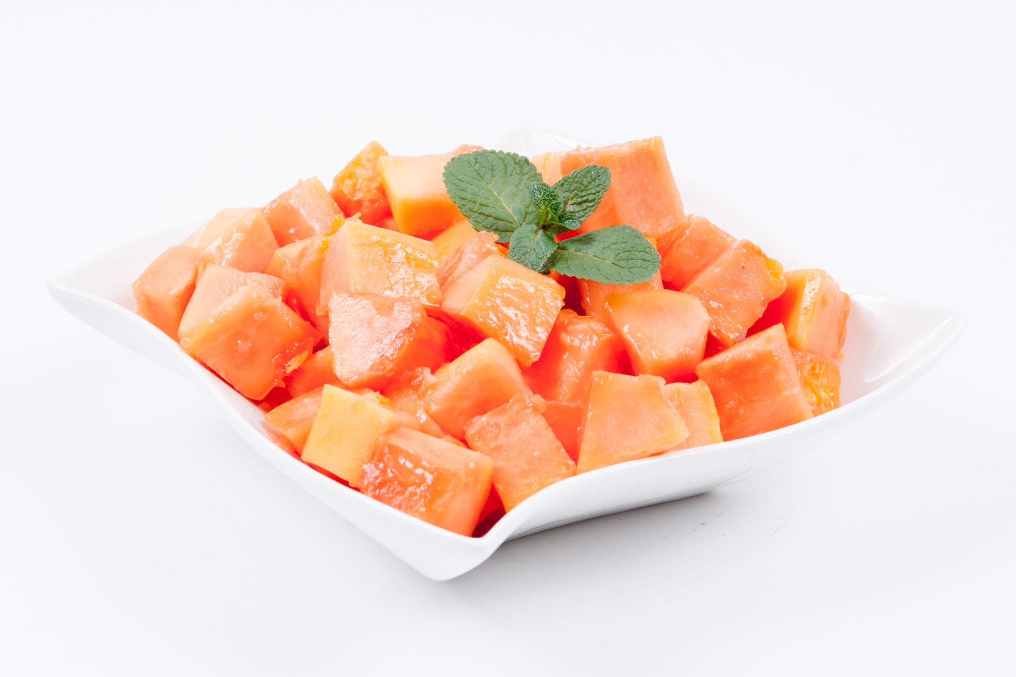 Papaya - gewürfelt