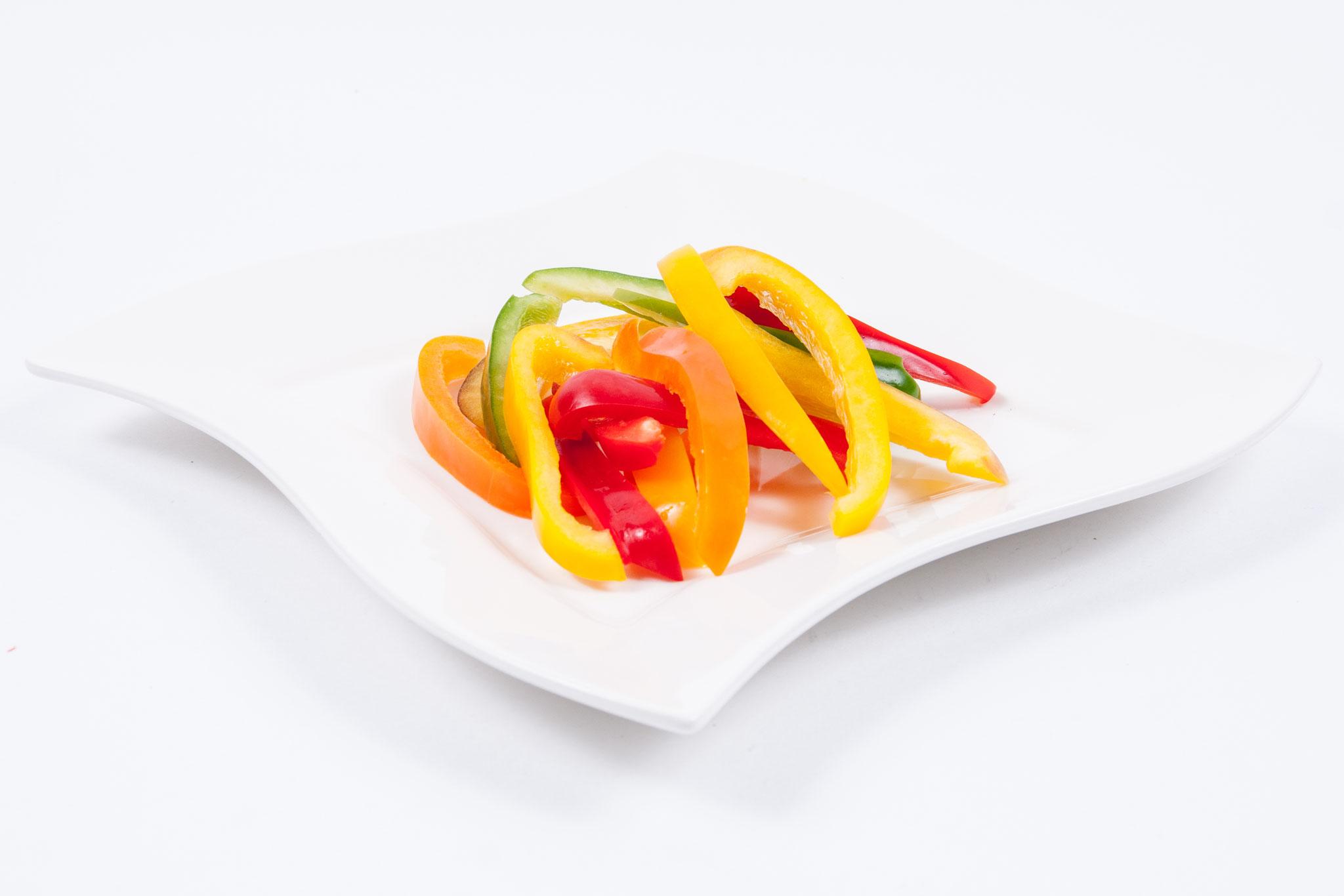 Paprika gemischt - Streifen