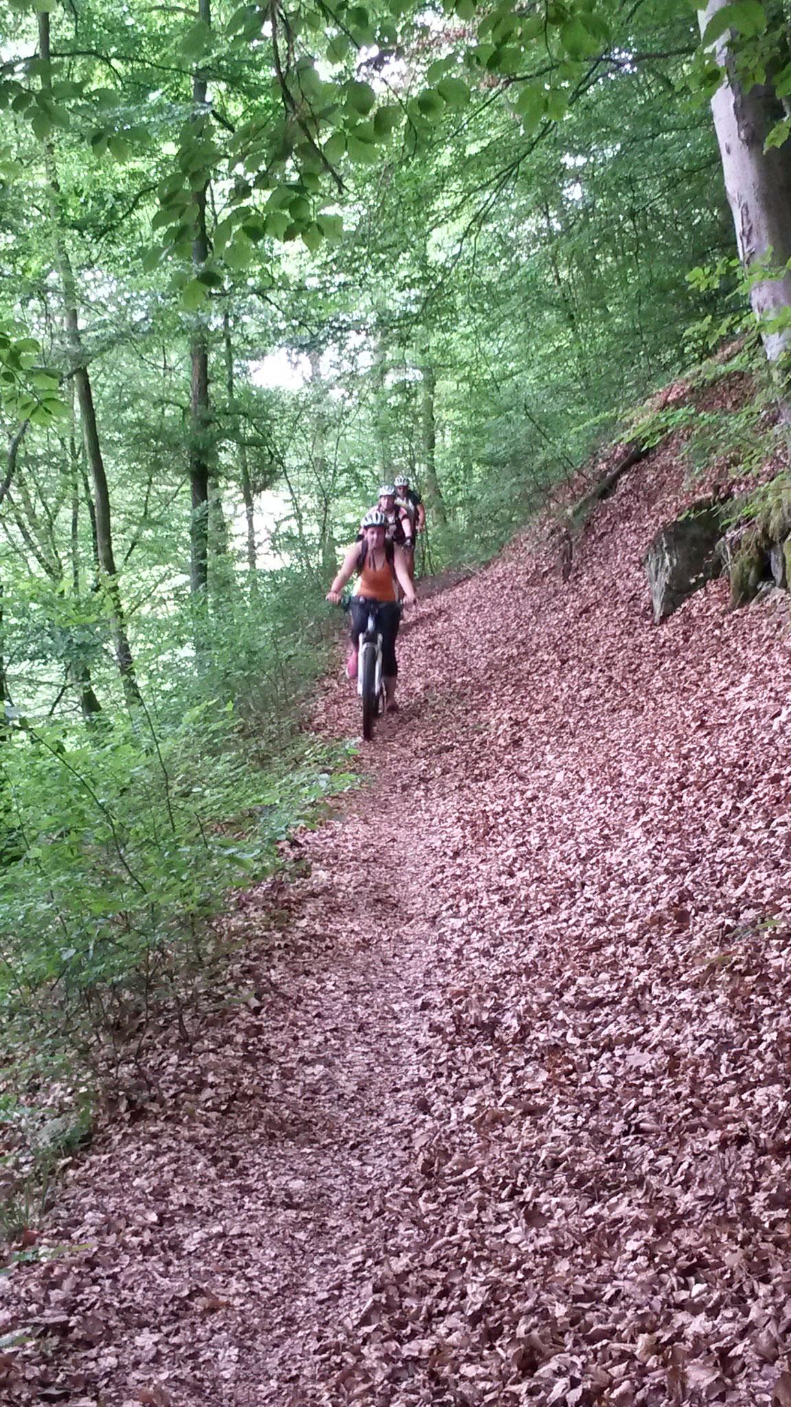Mutige im Trail