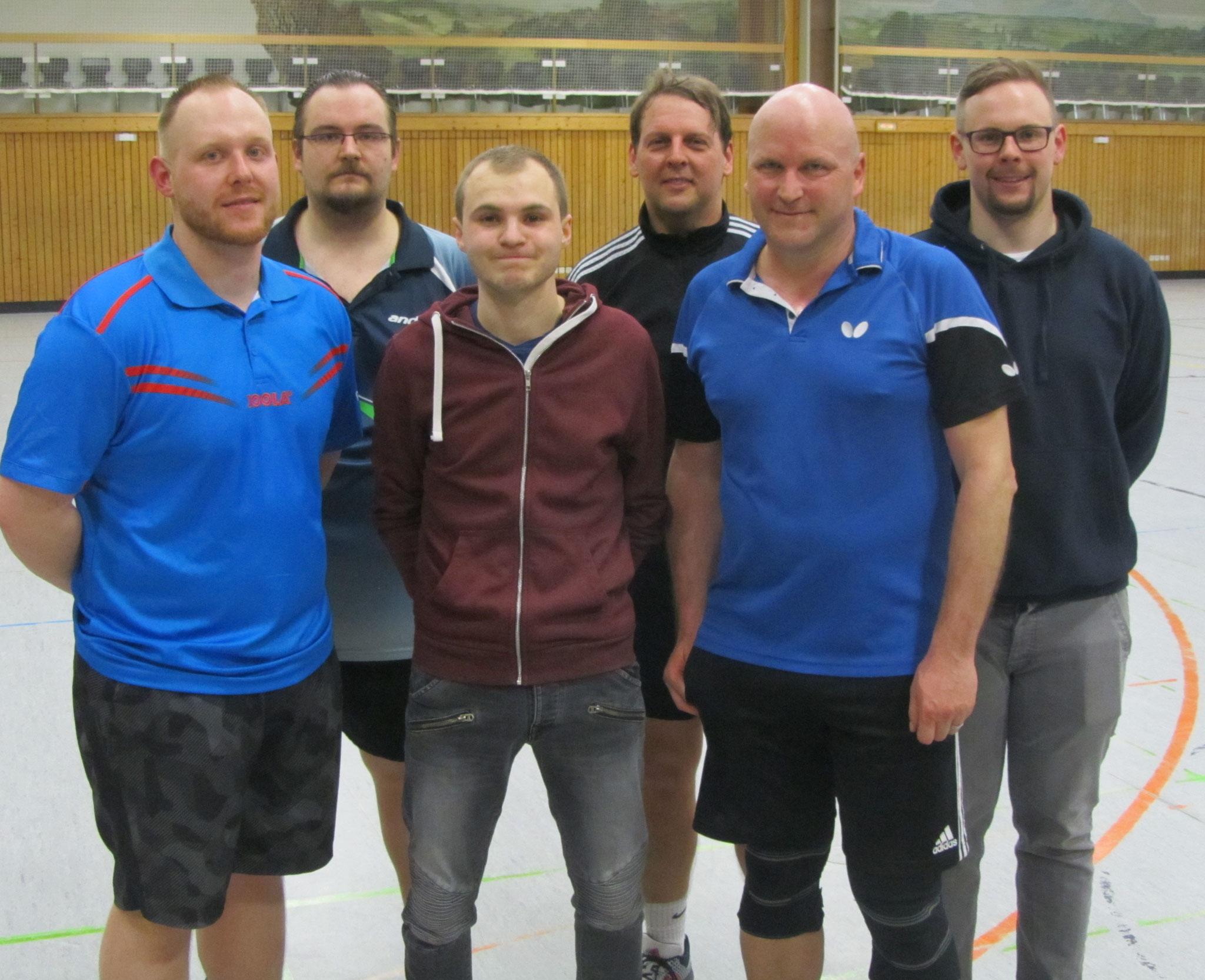 v.l. Daniel Schmitz, Tobias Schuller, Edi Zizler, Klaus Balda, Patrick Schrepf und Benjamin Korbel