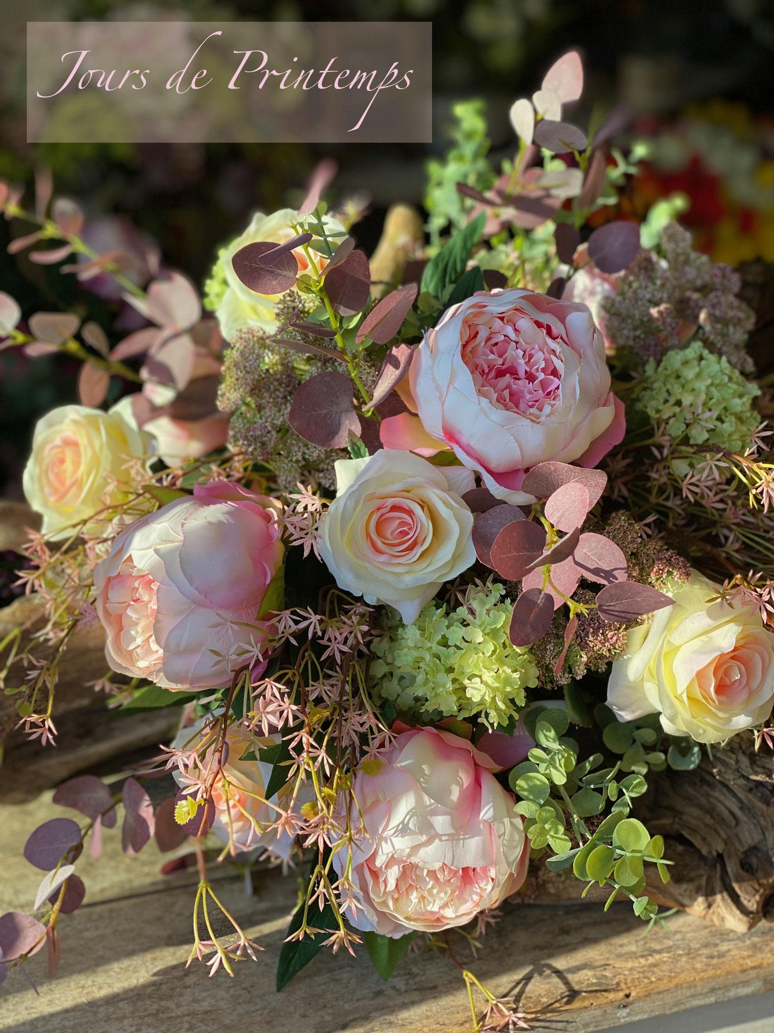 Pivoines et roses artificielles haut de gamme