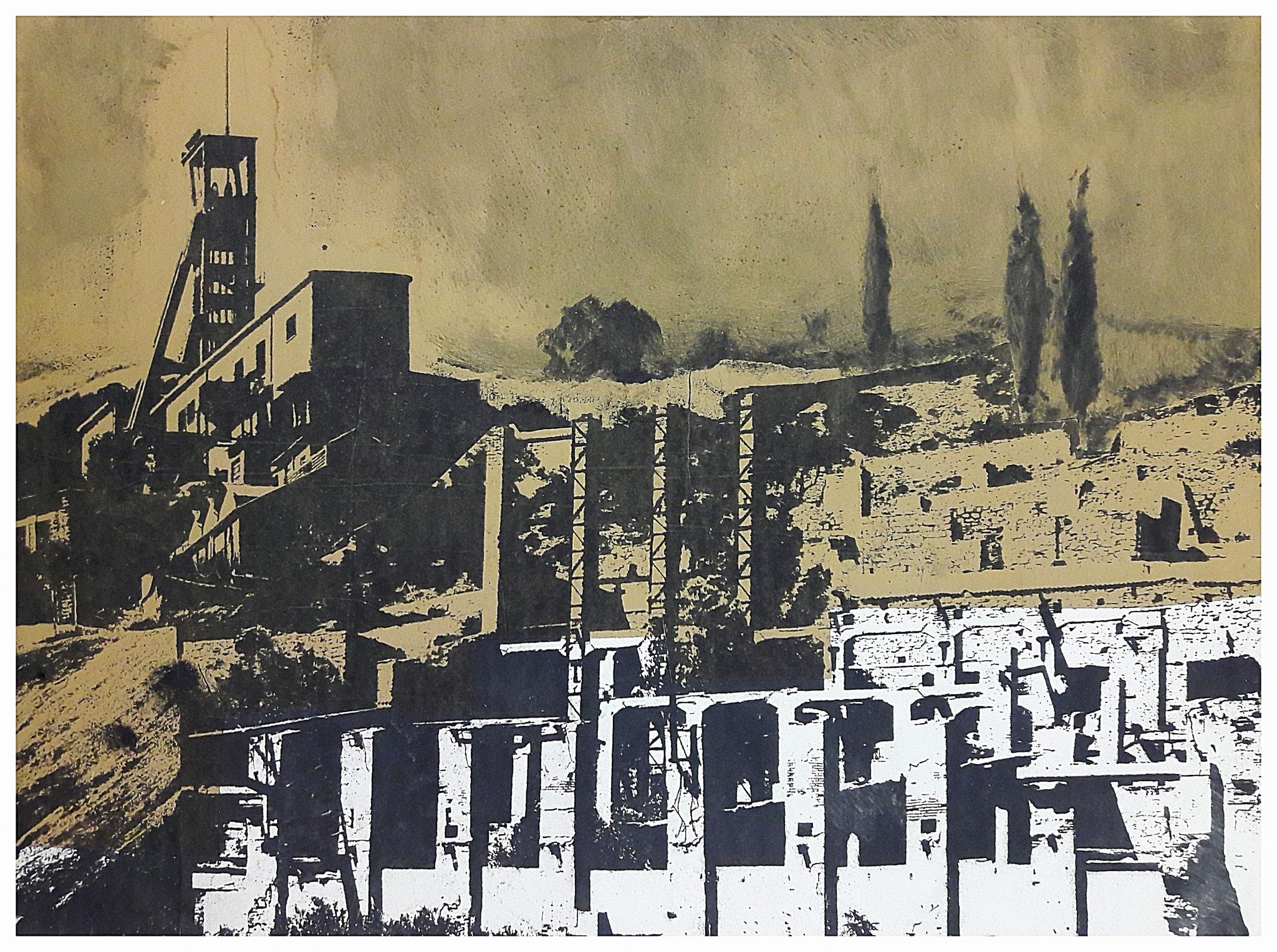 "Monotypie "" Mine de Montevecchio """