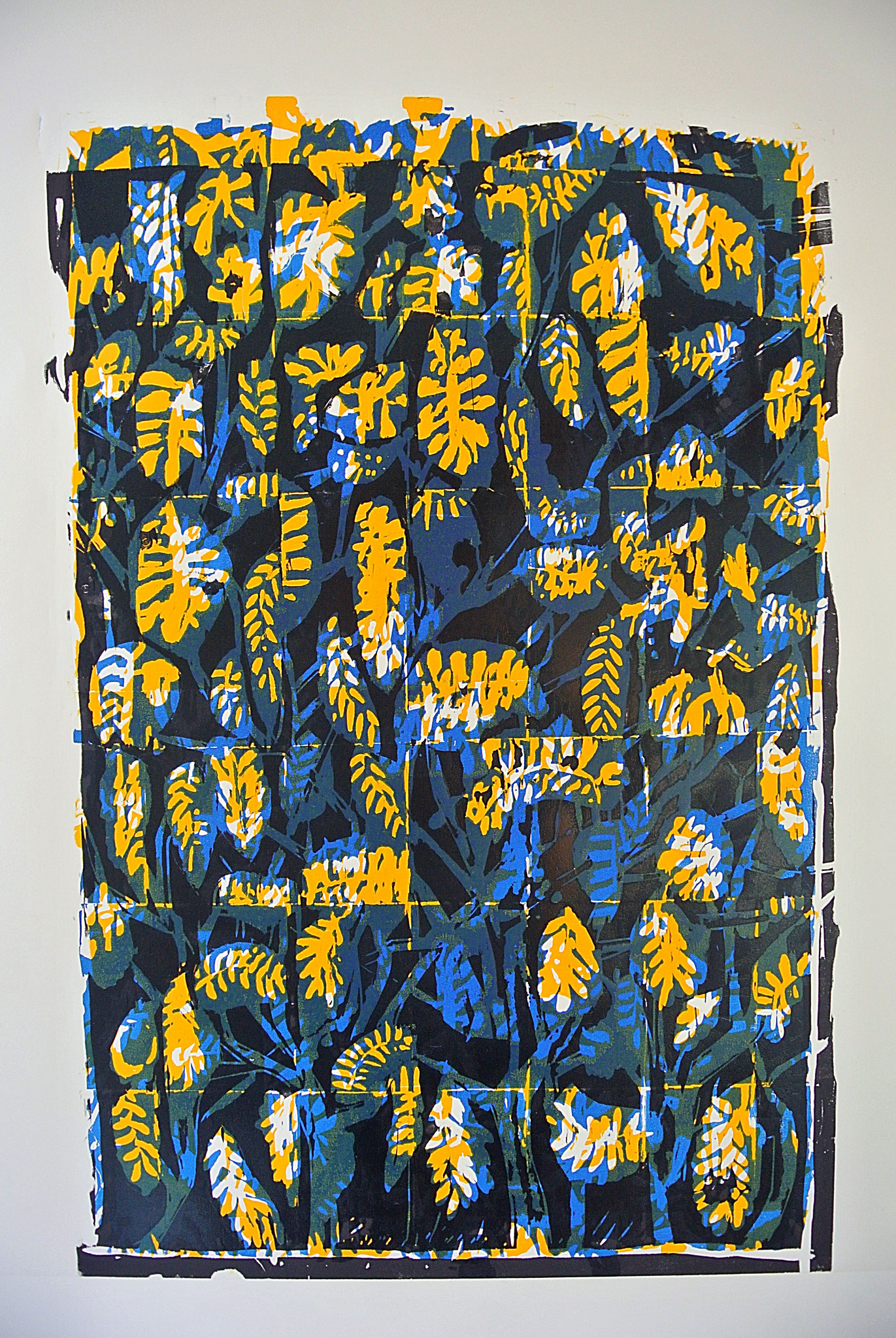 """Aus dem Bilderzyklus""""Bunte Blätter"""" Farb- Holzschnitt 76cm x 110 cm"""