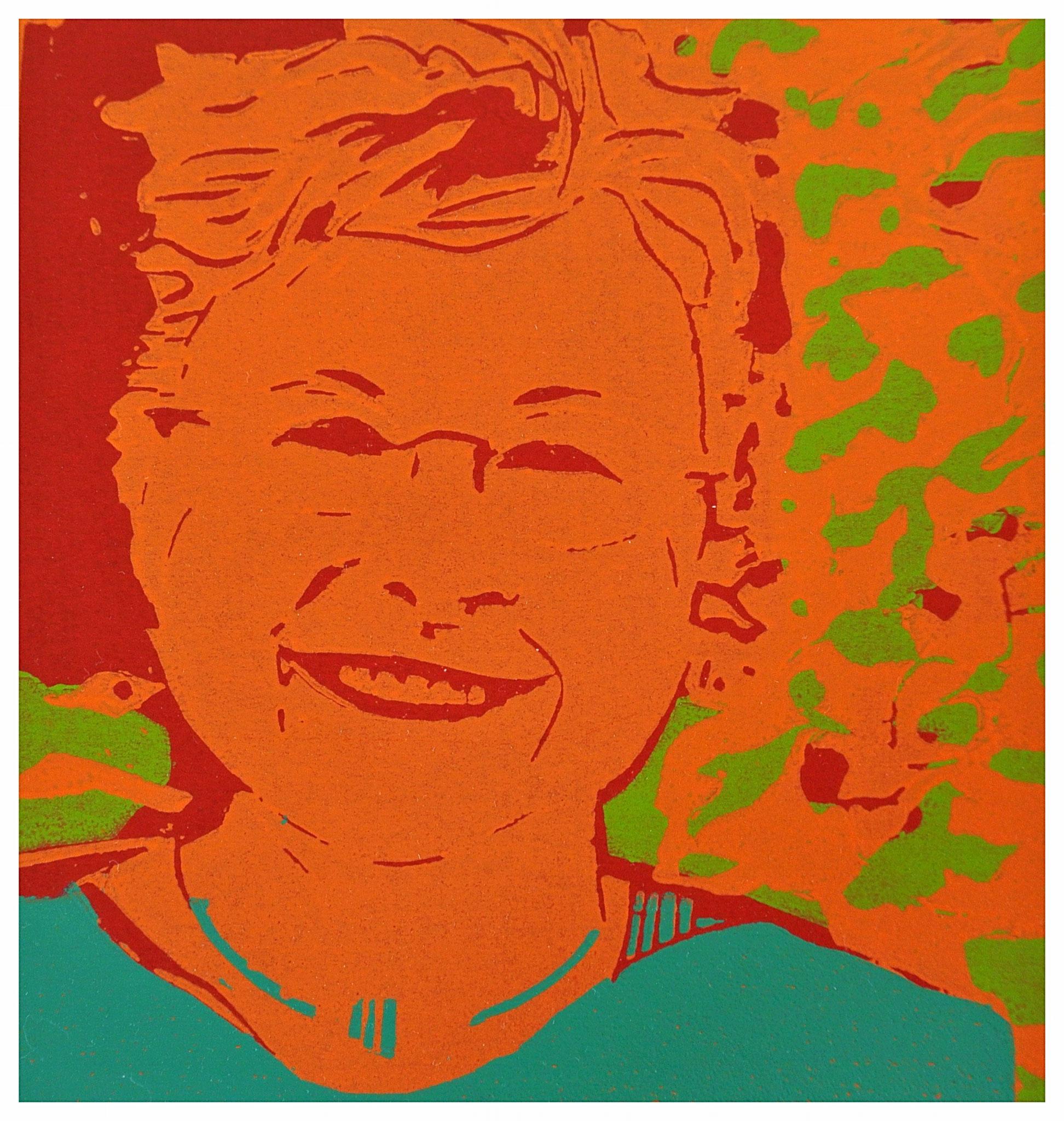 """Portrait """"Stephie Born"""" Holzschnitt 19cm x 19 cm ( verlorene Platte)"""