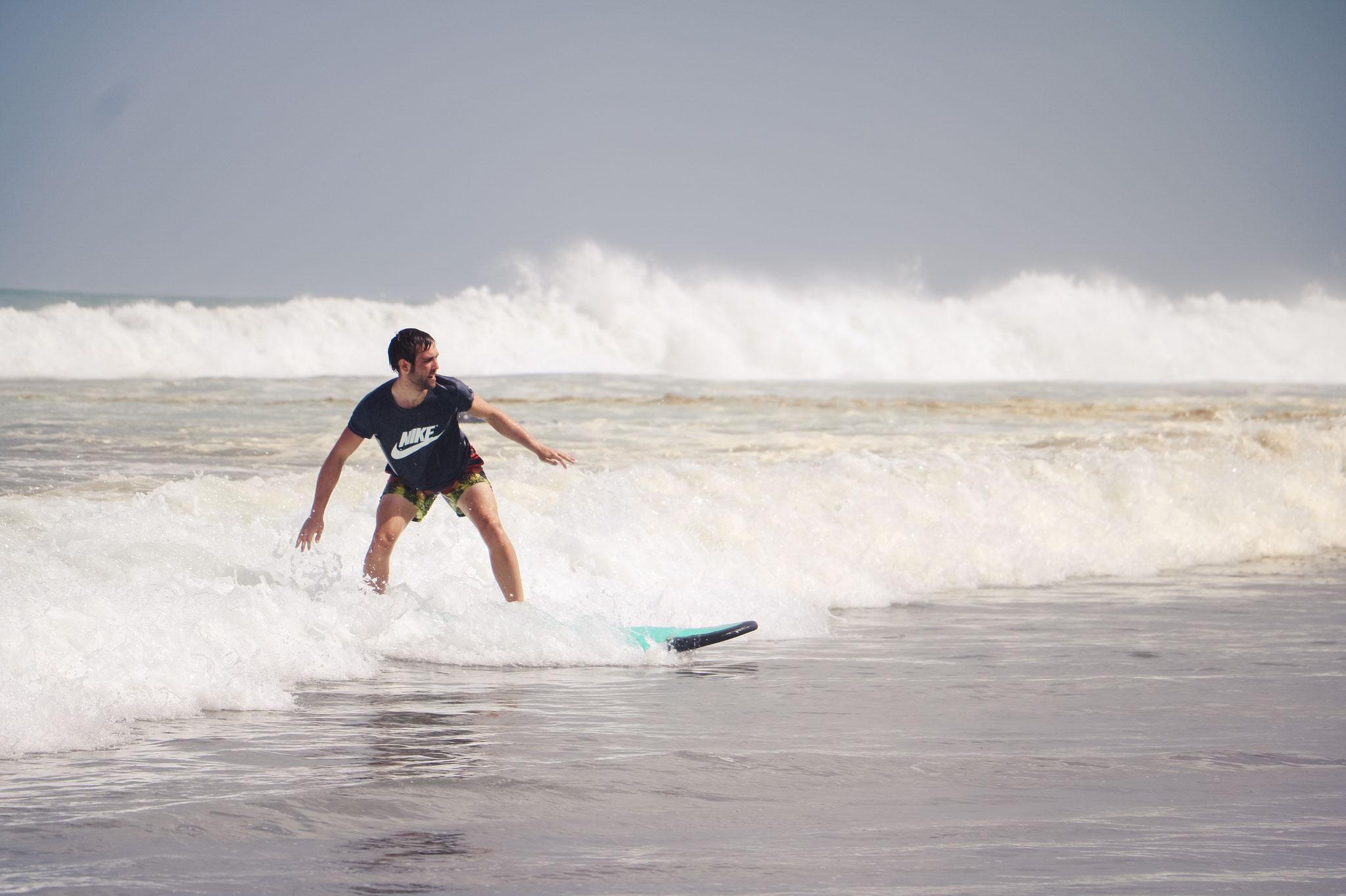 Anfängerstunde Bali Green Surf