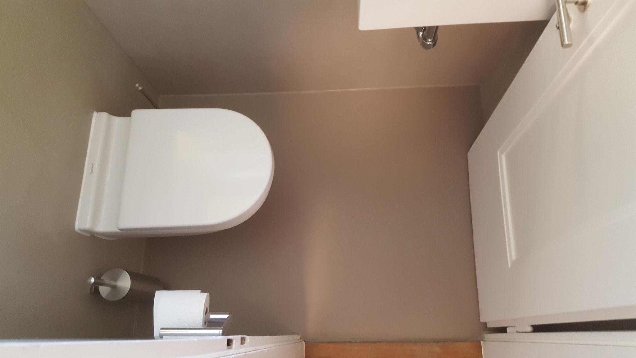 WC versiegelt