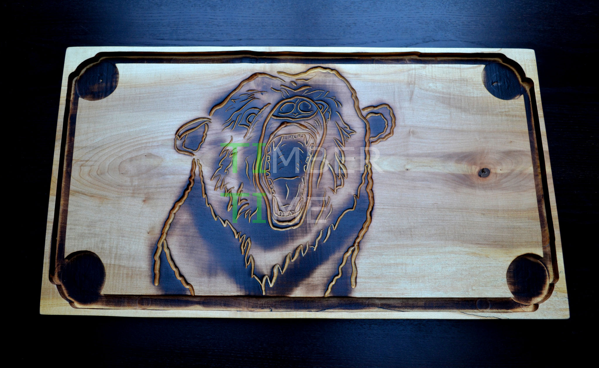 Holzbrett Bär