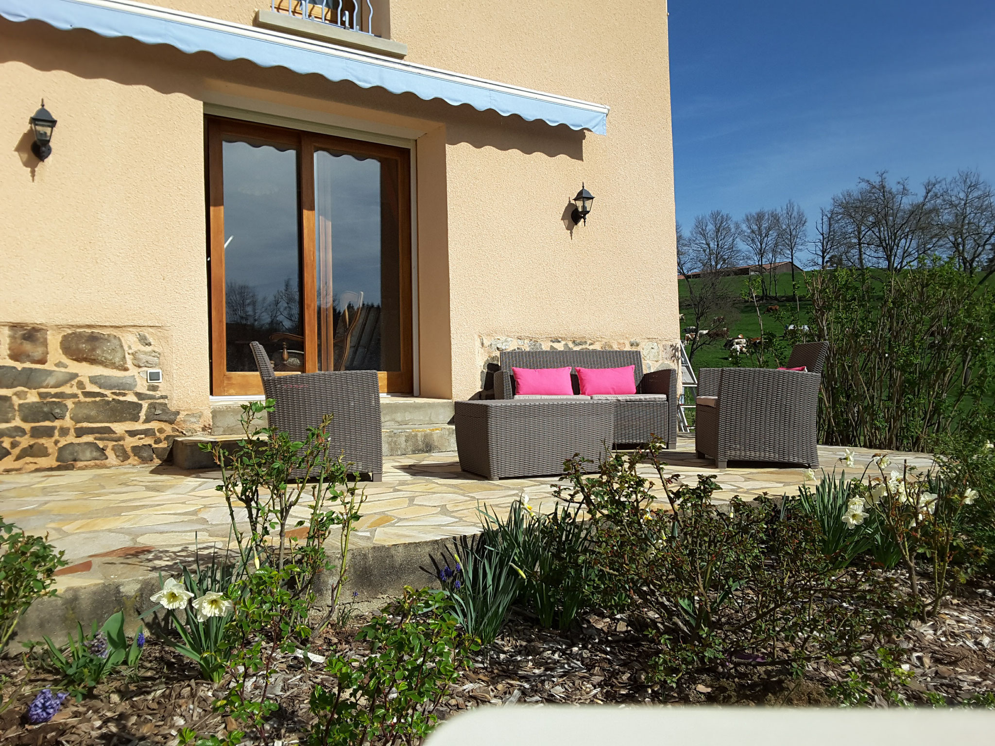 terrasse privative aux chambres