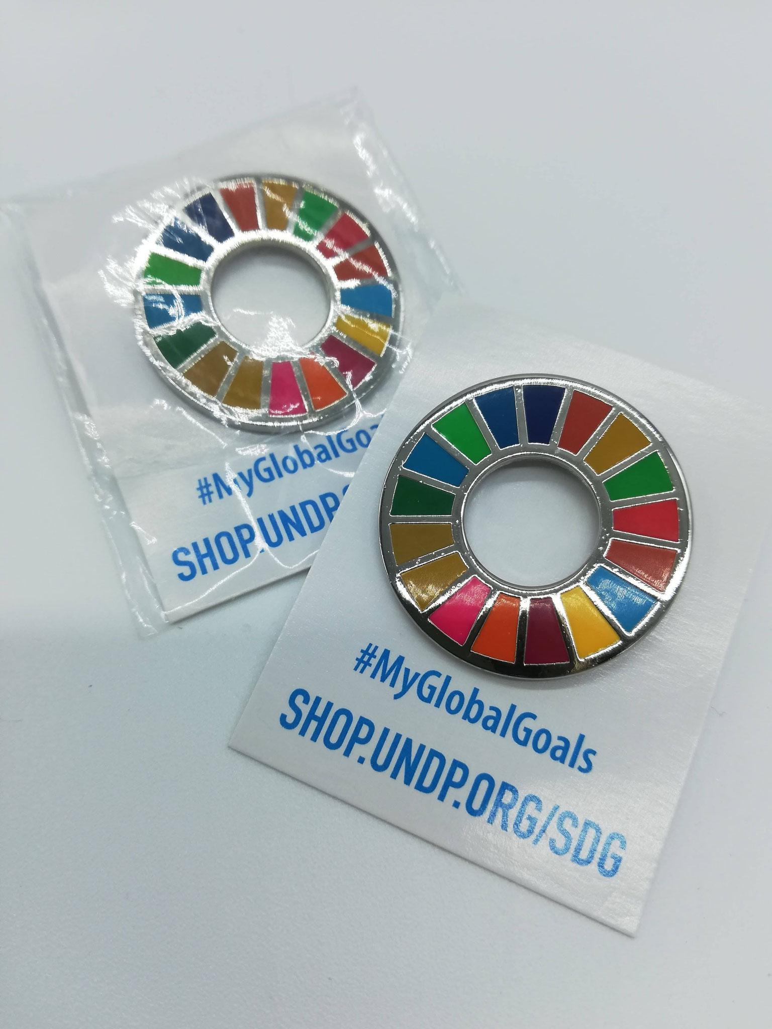 SDGsピンバッジ(金属製)
