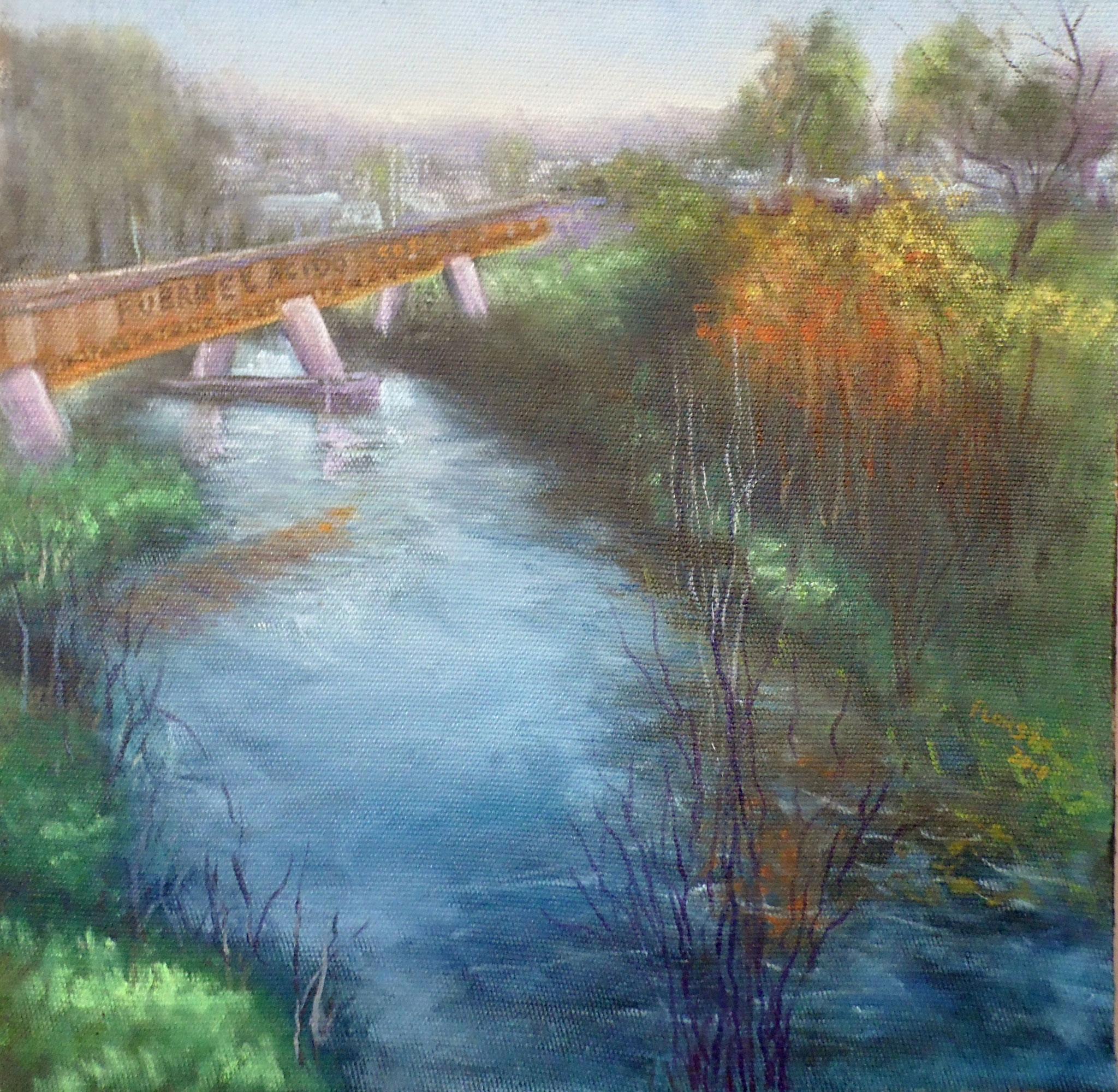 Desde el puente Llo-lleo   36 x 36 cms.