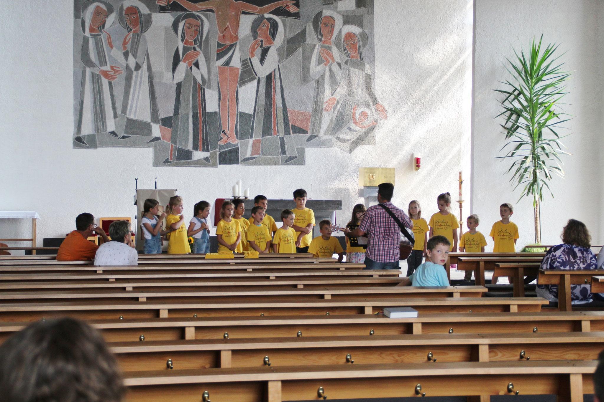 Generalprobe fürs Pfarrfest am 27.08.2017