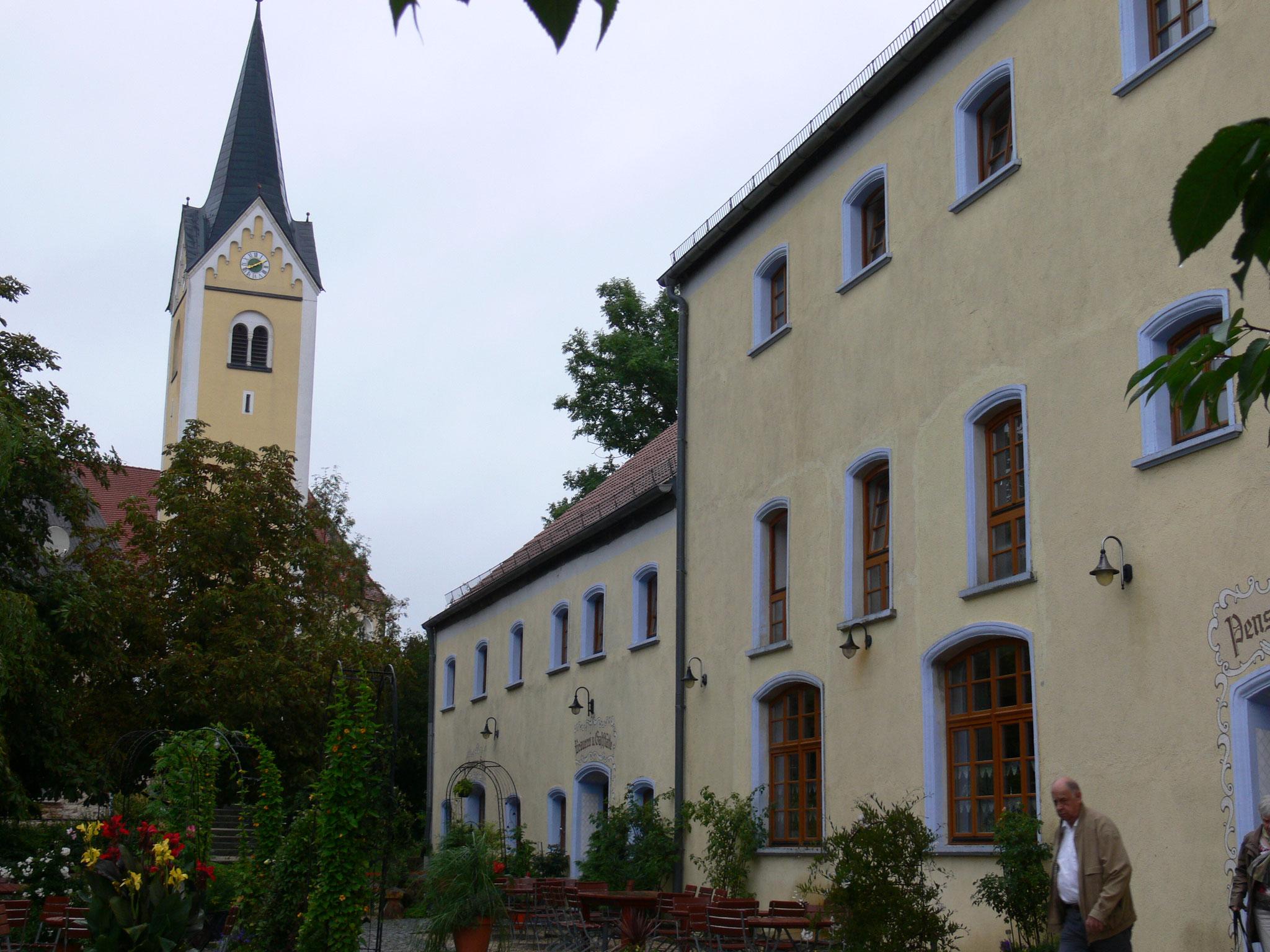 Eine gute Adresse, der Brauereigasthof Stangelbräu in Herrnwahltann, unser Hotel.