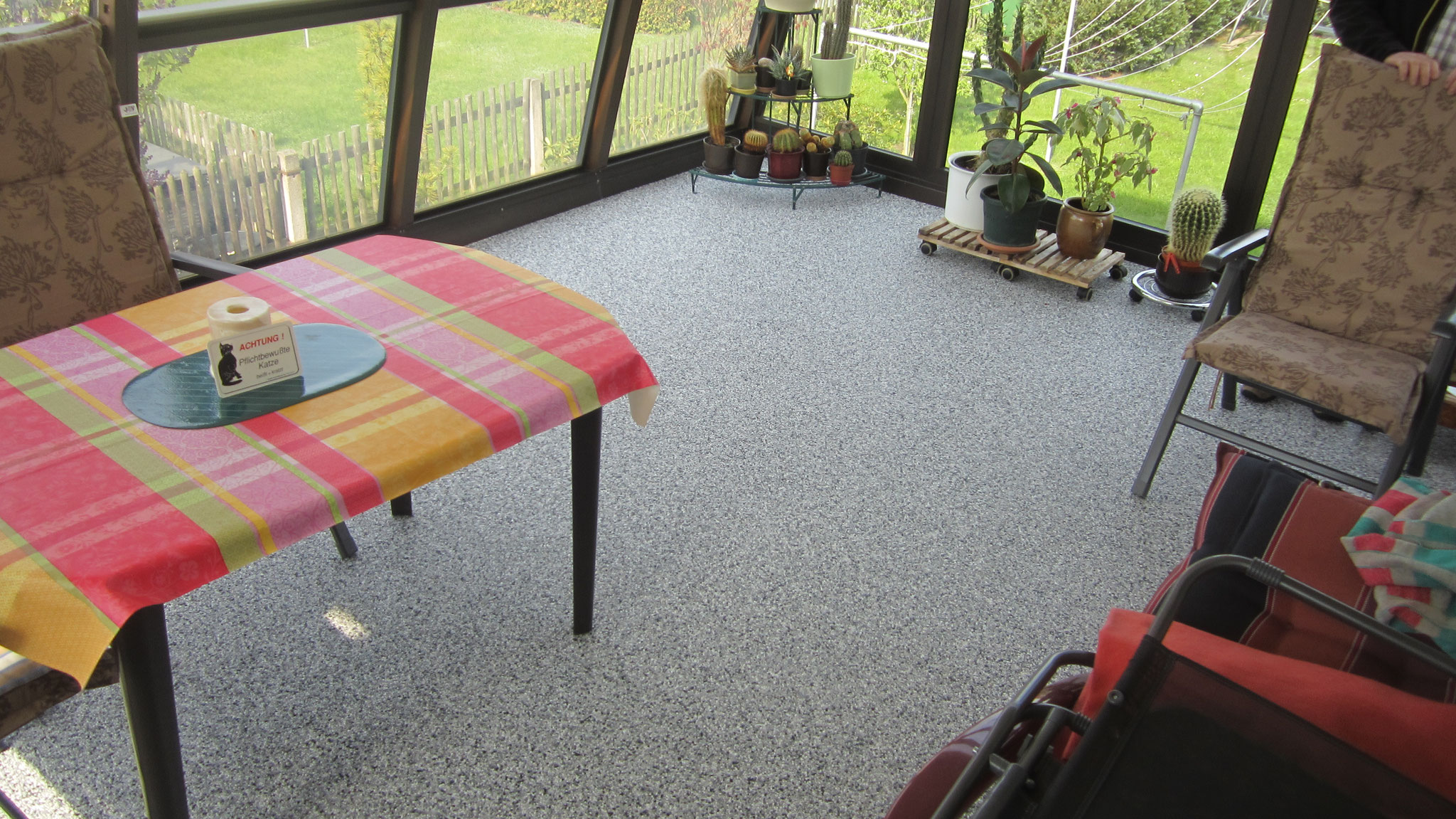 zufriedene Kunden bei Pößneck mit business Steinteppich