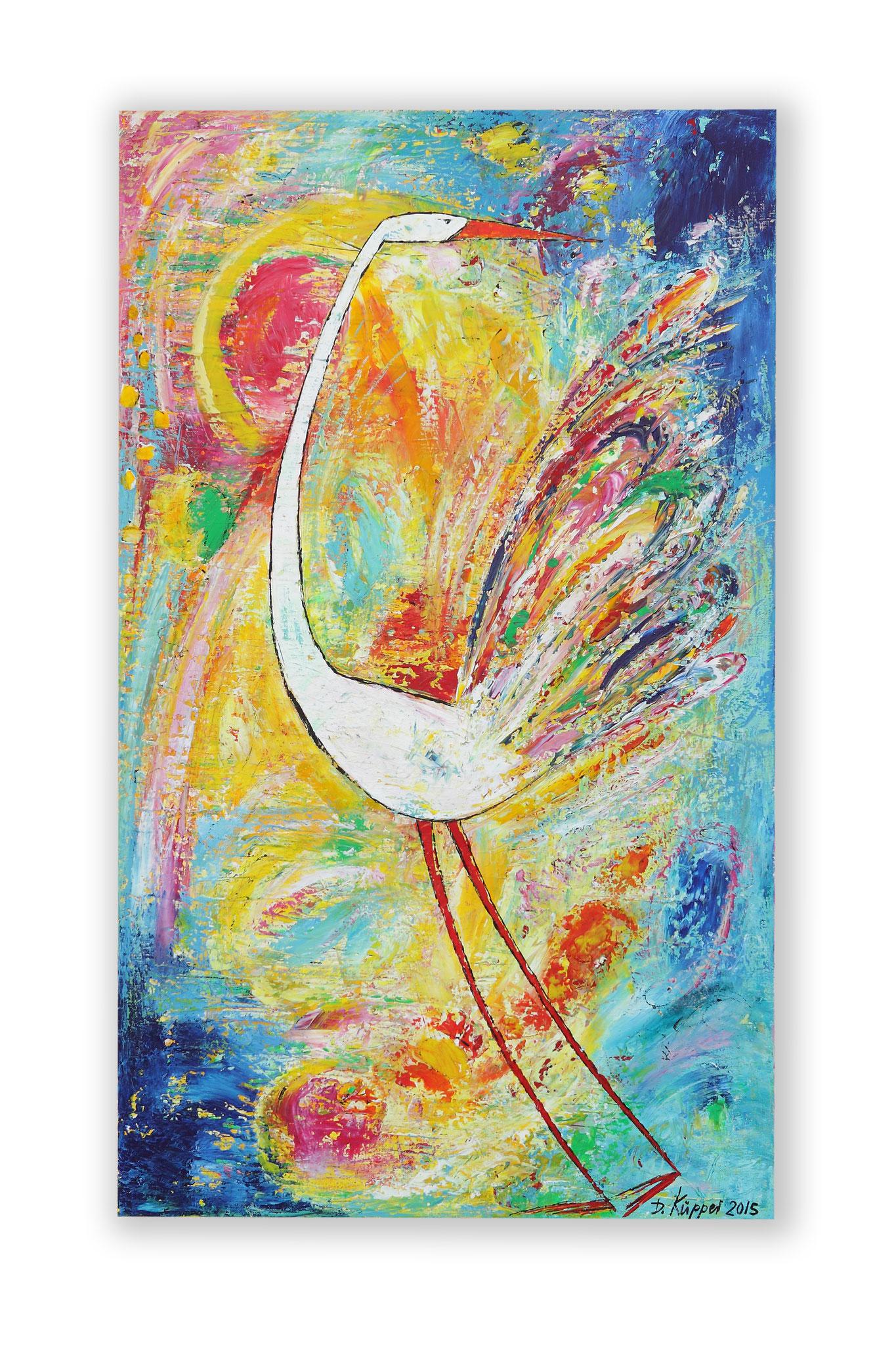 """Bunter Vogel"" - 60x100cm - Preis: 290 Euro"