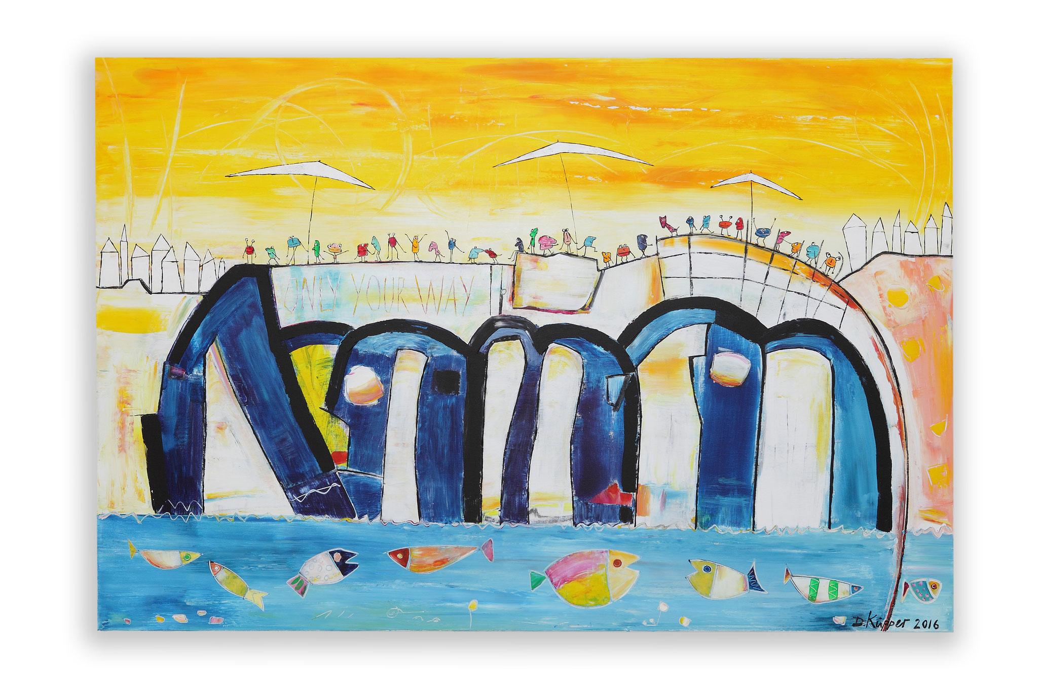 """""""Auf der Brücke"""" - 120x80cm - Preis: 400 Euro"""
