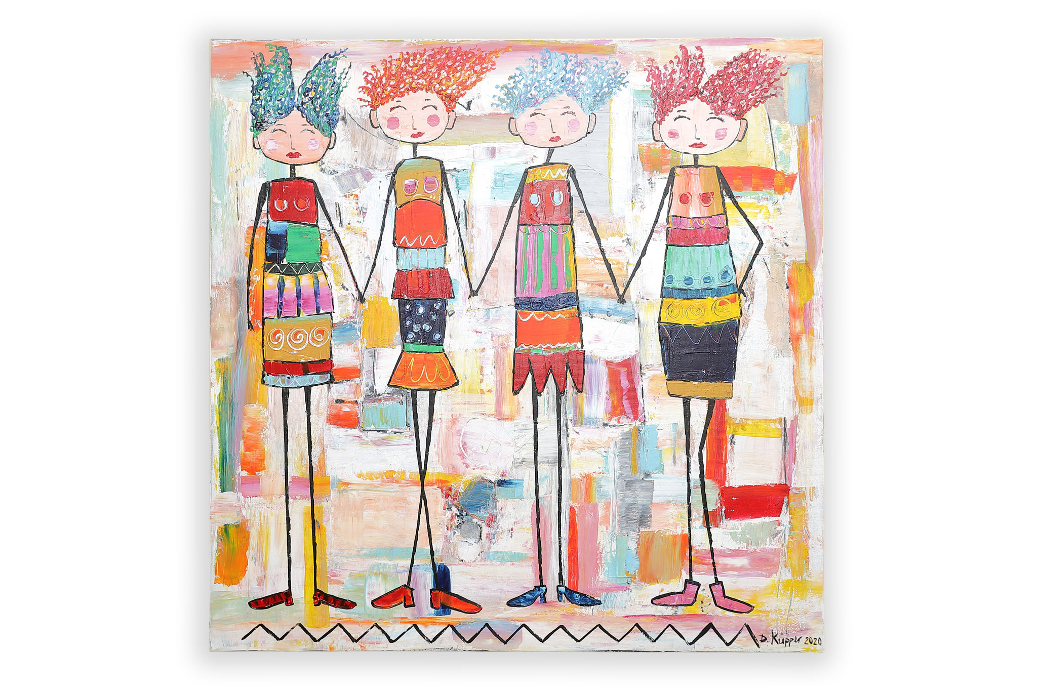 Hand in Hand - 80x80cm - 300 Euro