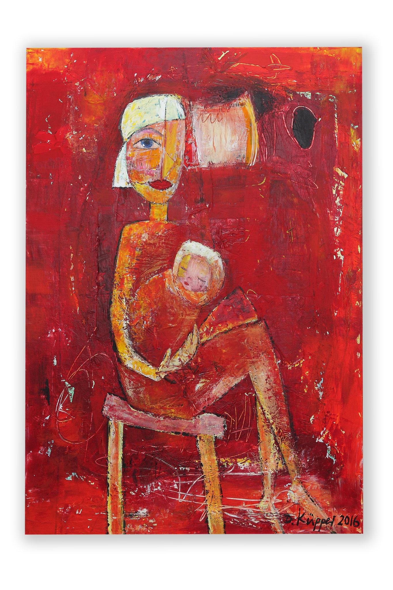 """""""Mutter mit Kind"""" - 70x100cm - Preis: 360 Euro"""